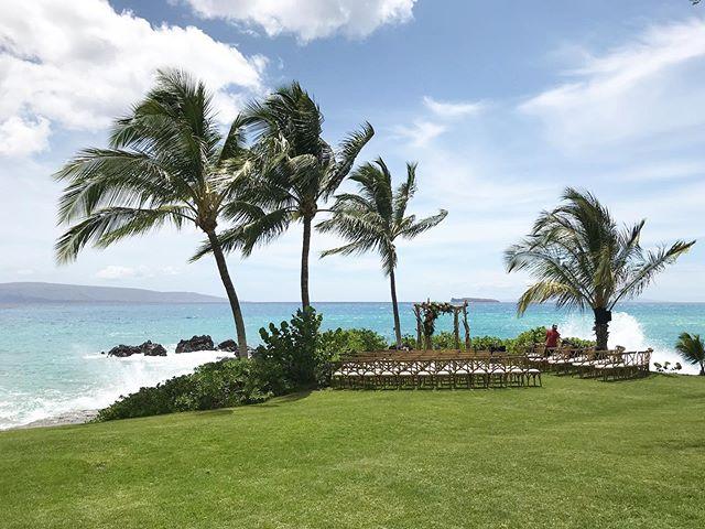 🥰 🌊  A sweeeet South swell today 🤙🏽 #extraordinarymauiweddings  #bestdayever  #mauibeachwedding  #destinationwedding  #mauiwedding #mauiweddingvenue