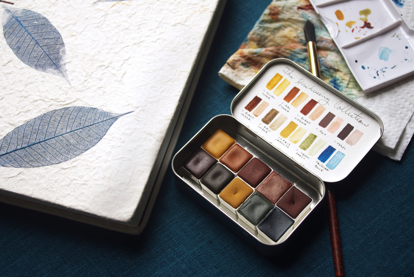 Custom sketchbook pictured here with  The Hushwing Collection  palette.