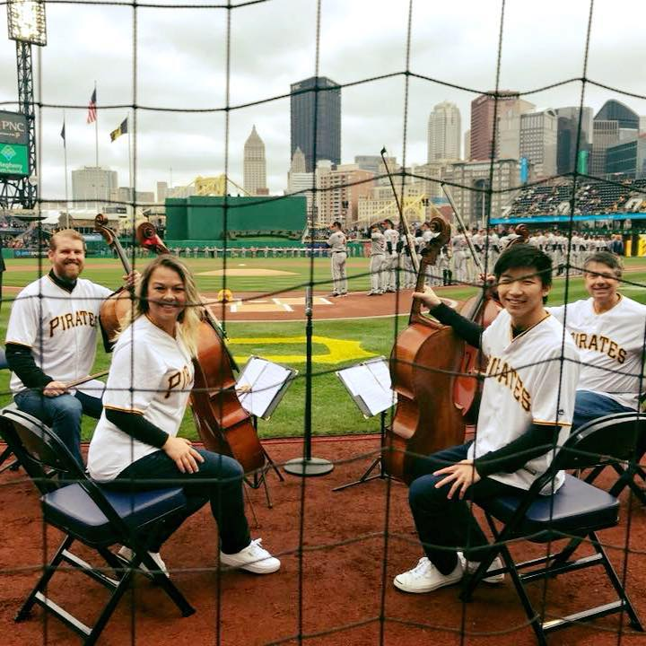 PCQ plays the National Anthem for the Pittsburgh Pirates 2018 home opener