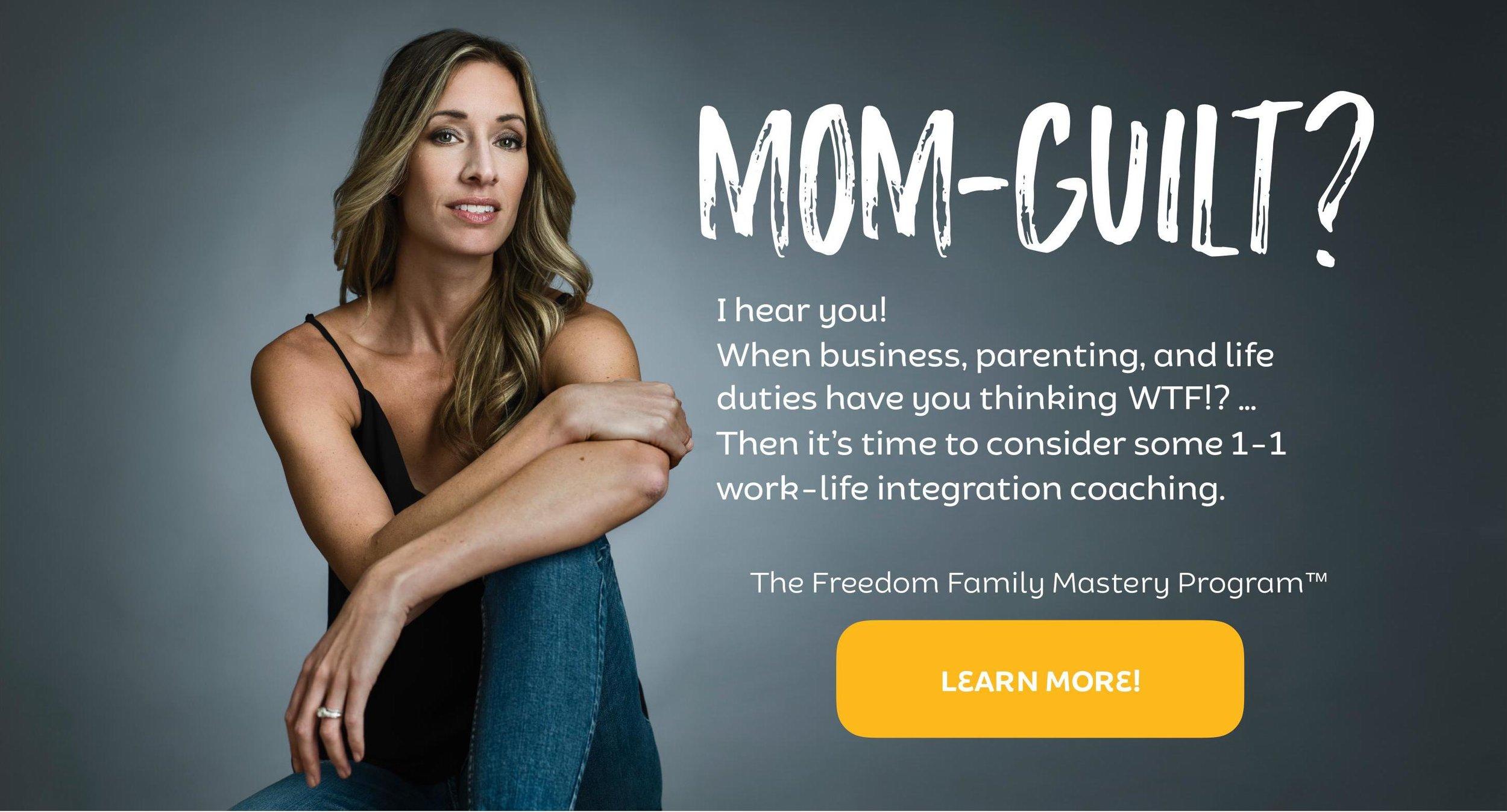 Mom guilt, mompreneur guilt