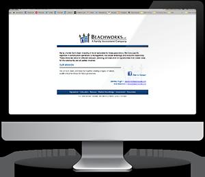 Beachworks' website before