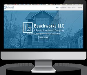 Beachworks' website after