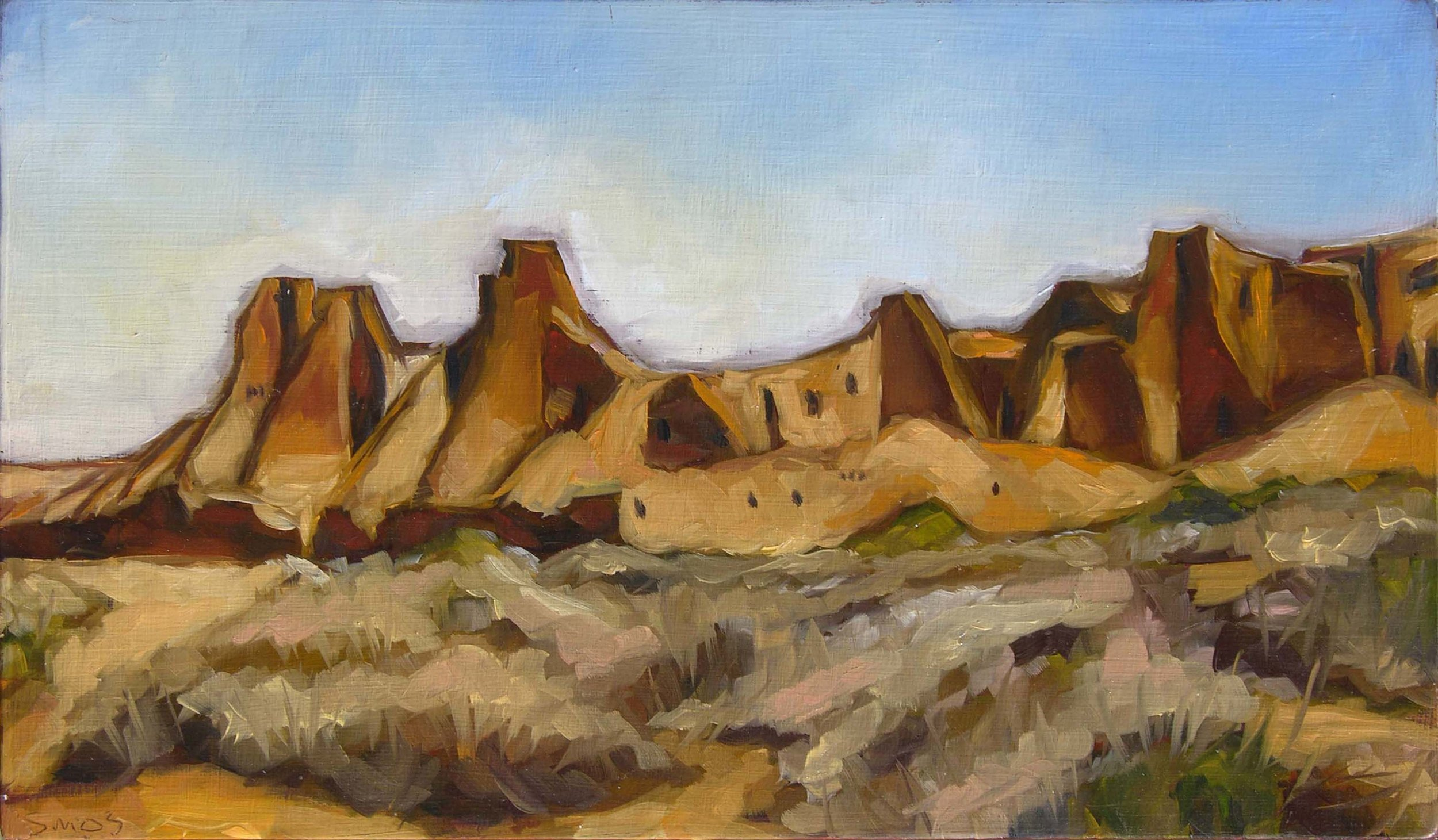 Southwest impressionist oil painting by Steve Martin