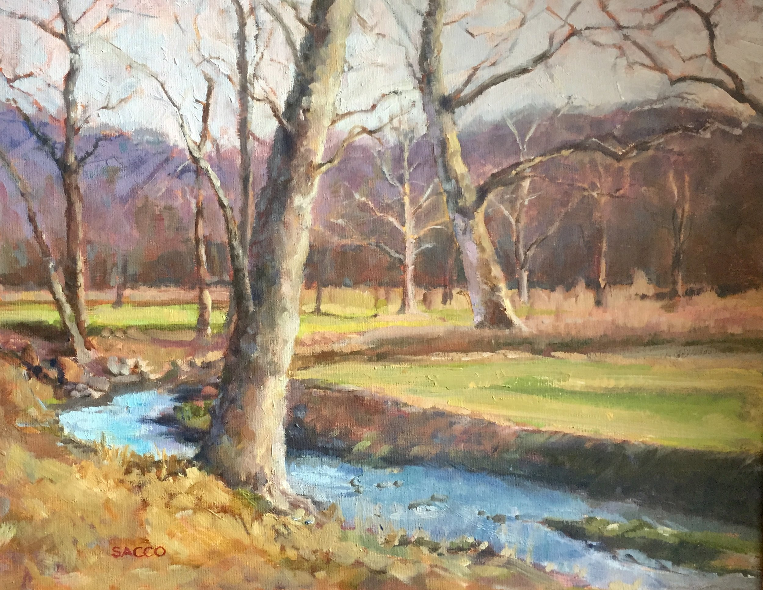 Kerry Sacco ,  Late Fall Sherman Creek , Oil on Canvas