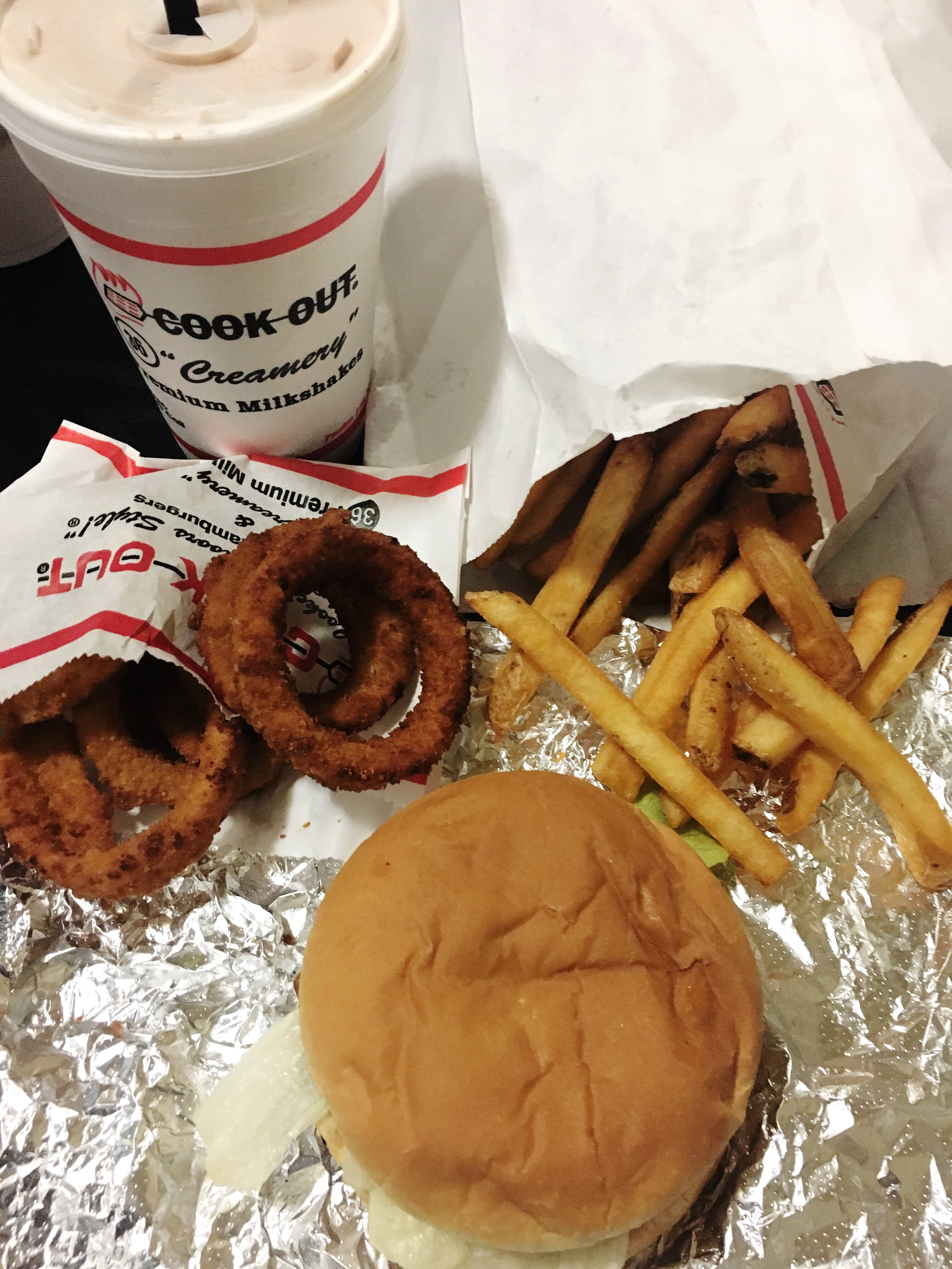 my first cook-out stop