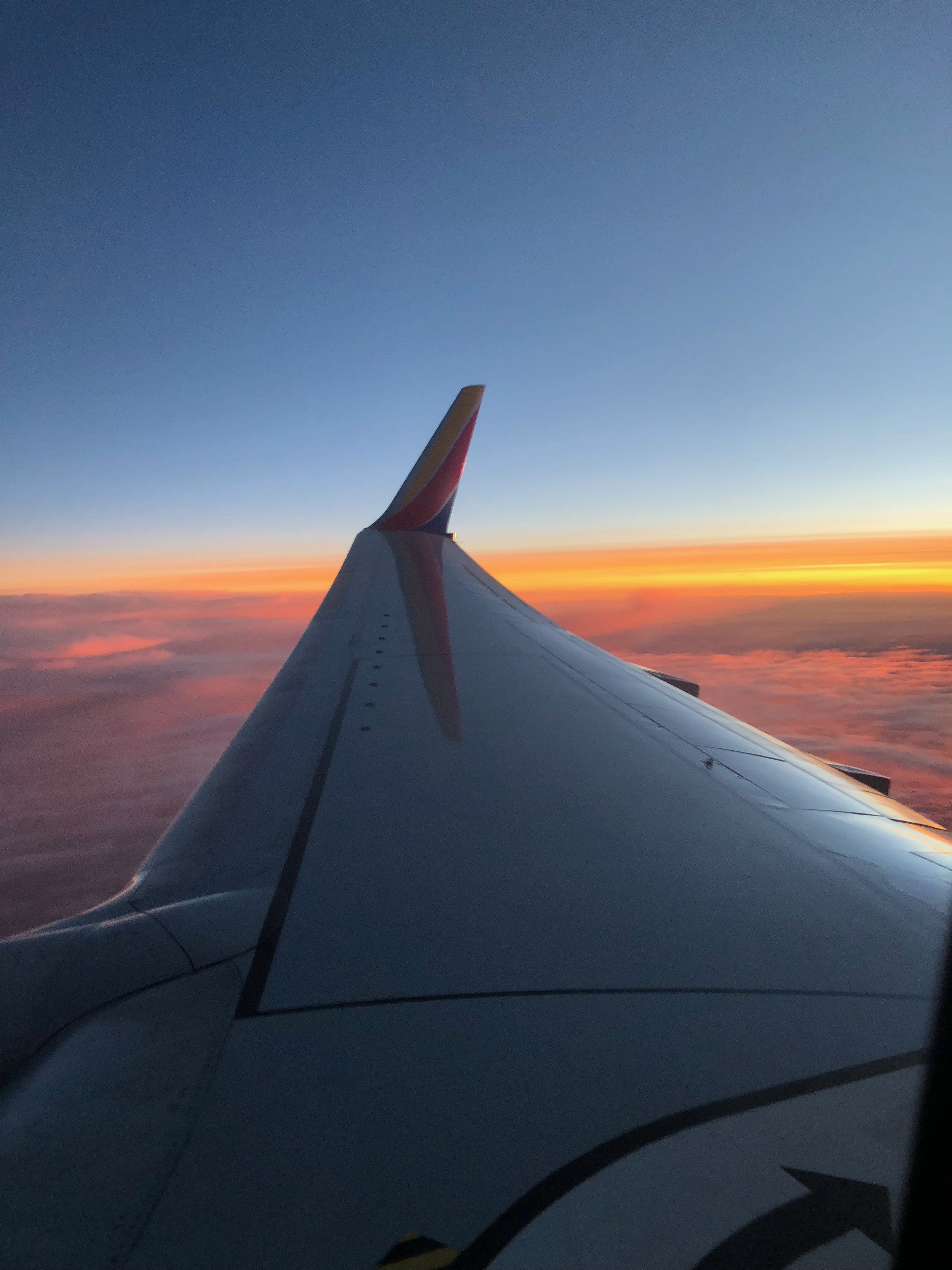 The perks of evening flights.