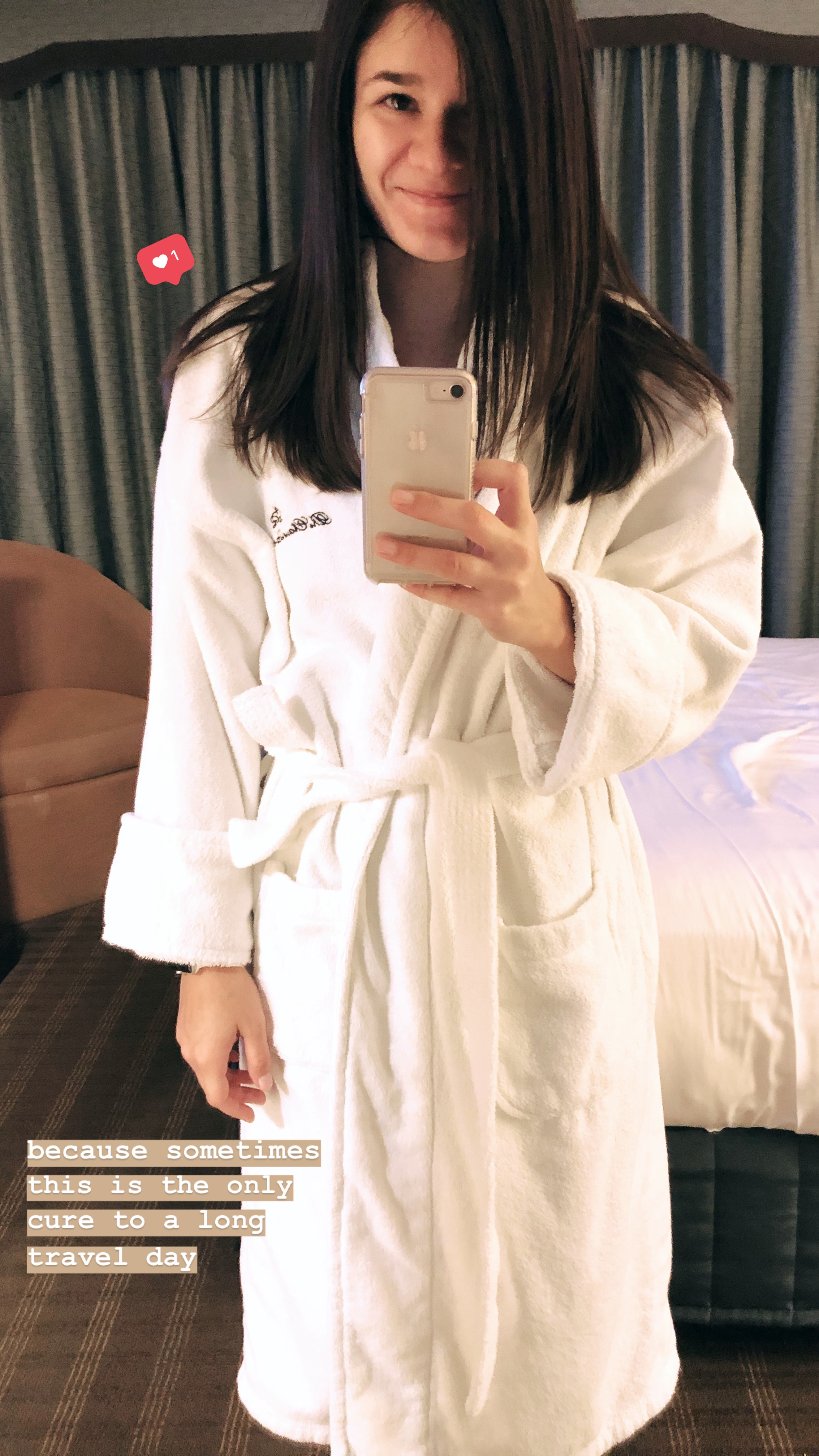12 hour travel days call for hotel robes, DUH