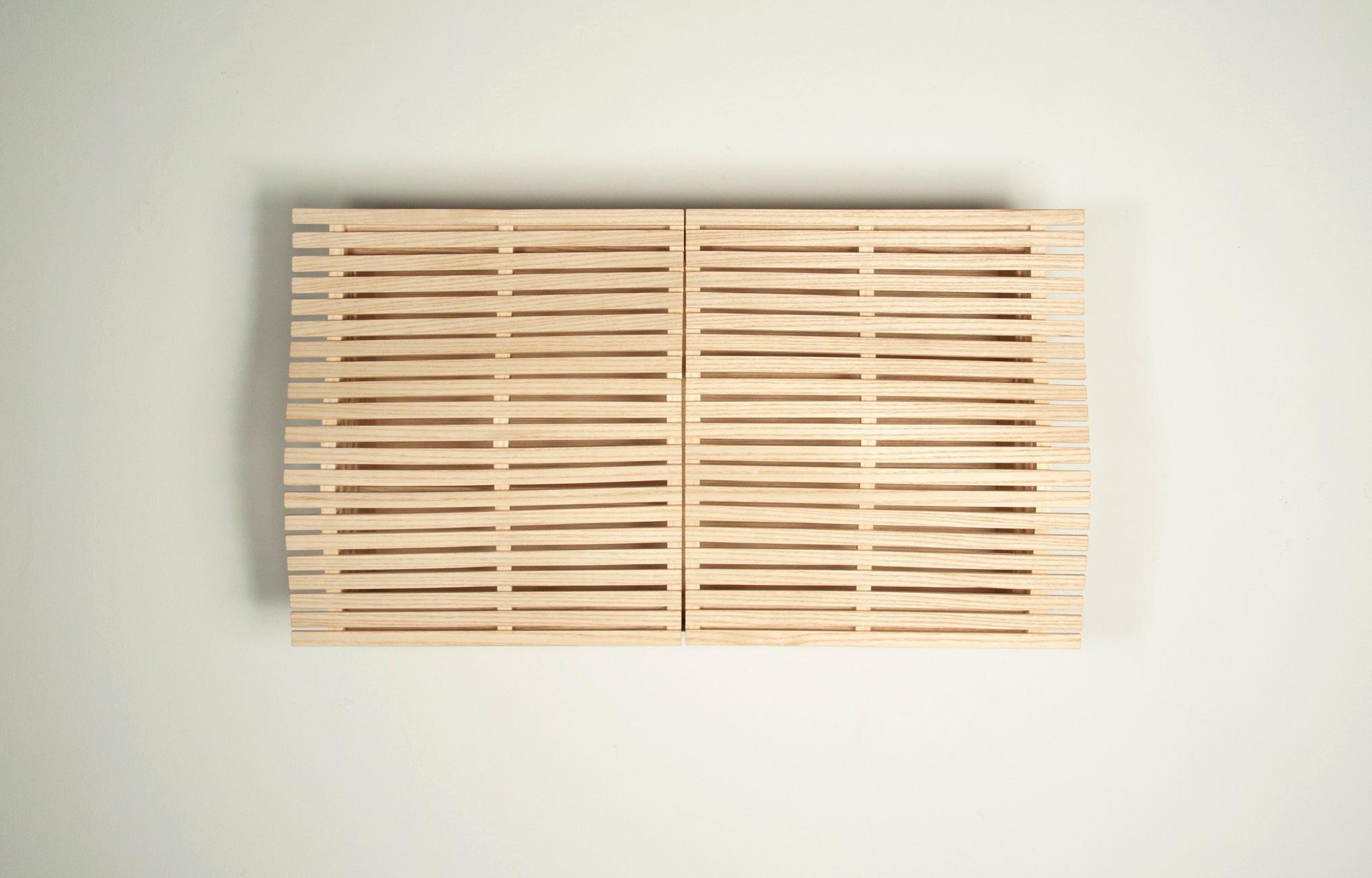 "steam cabinet. ash, brass, aluminum, 24"" x 14"" x 8"", 2016"