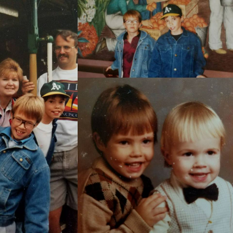 Pictures of Chris and Adam growing up.