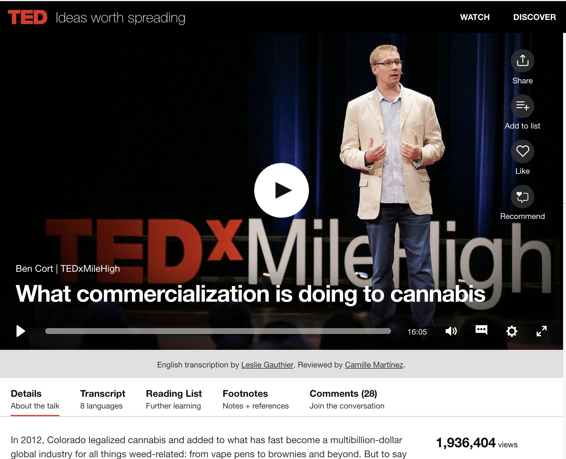 Ben Cort TEDx Talk