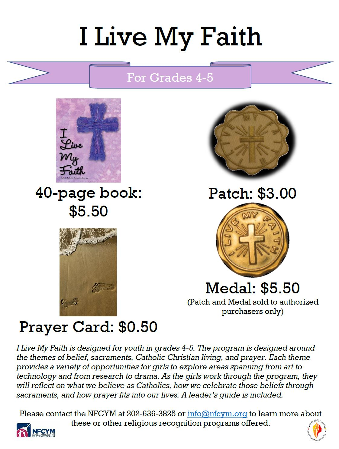 Click Image Above to Purchase Book and Prayer Card See Authorized Purchaser List to Purchase Medal and Patch