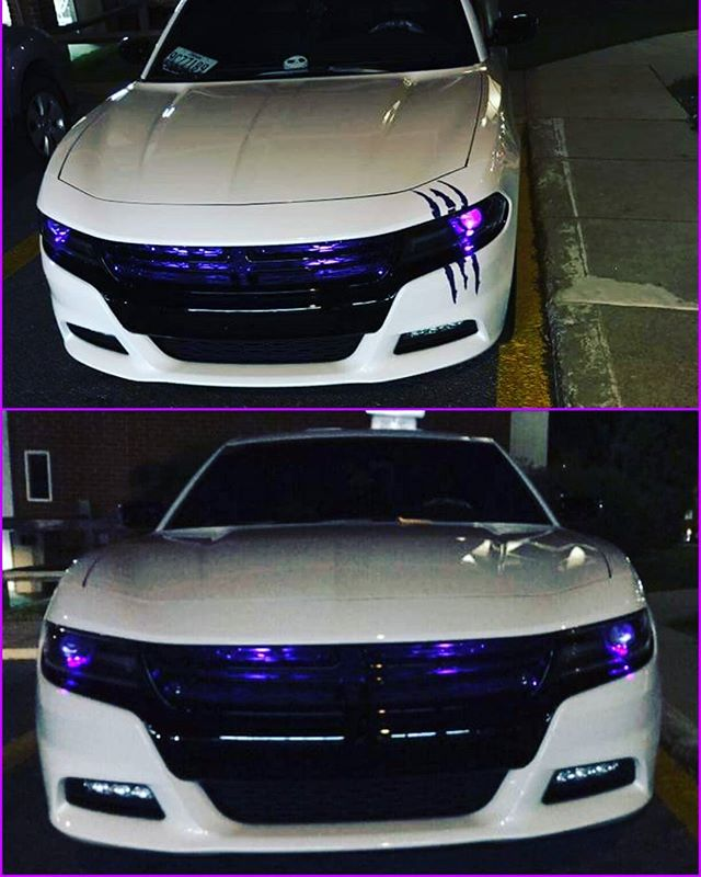 Working on a Nightmare Before Christmas project just in time for Halloween. First step: LED lighting, all controlled via Bluetooth app.  #streetinnovations #ledlights #rgbled #automotivecustomization #automotivecustomlighting #nightmarebeforechristmas #halloween #demoneyes #ledconcepts