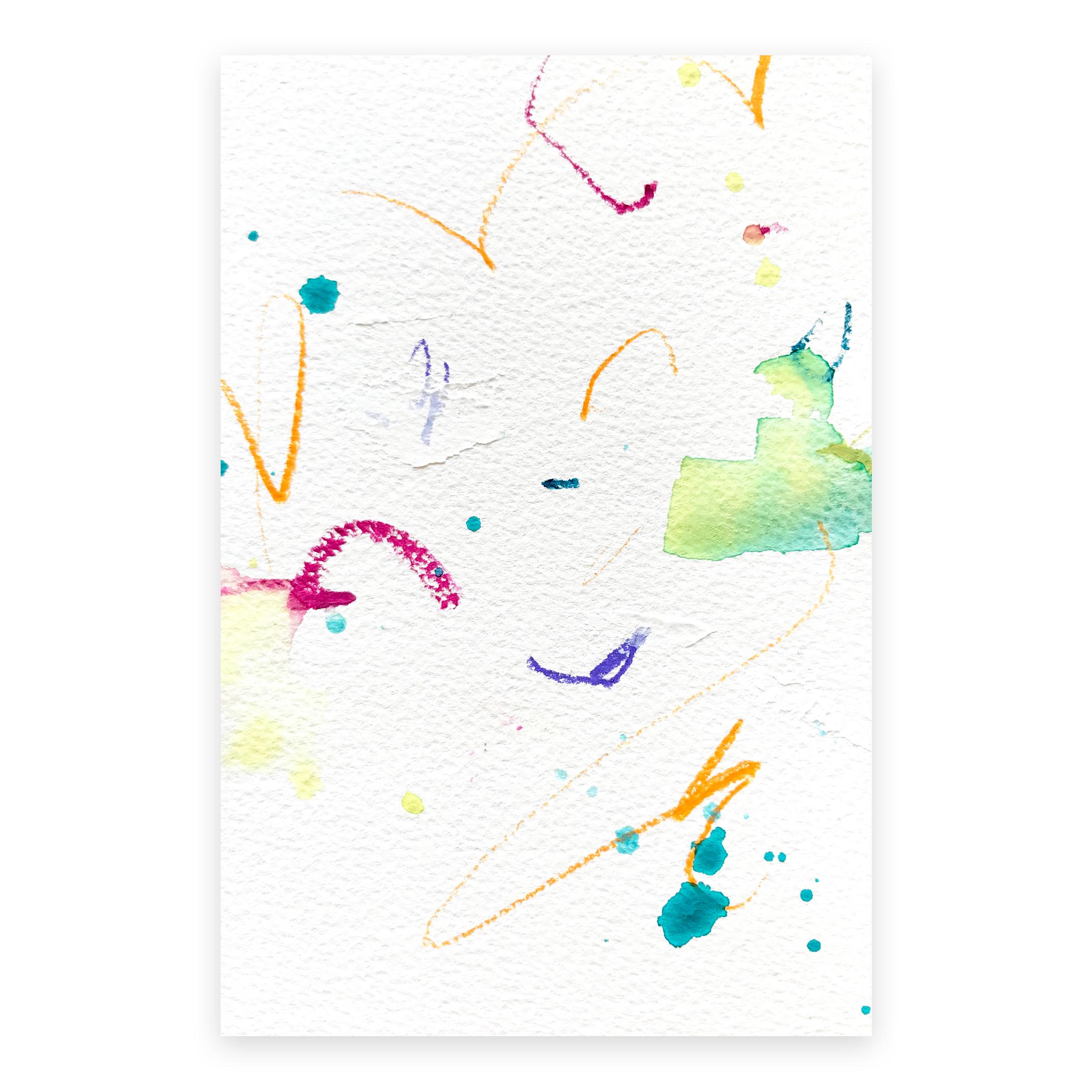 dd_oct22181  Mixed media on paper 14.8×10cm