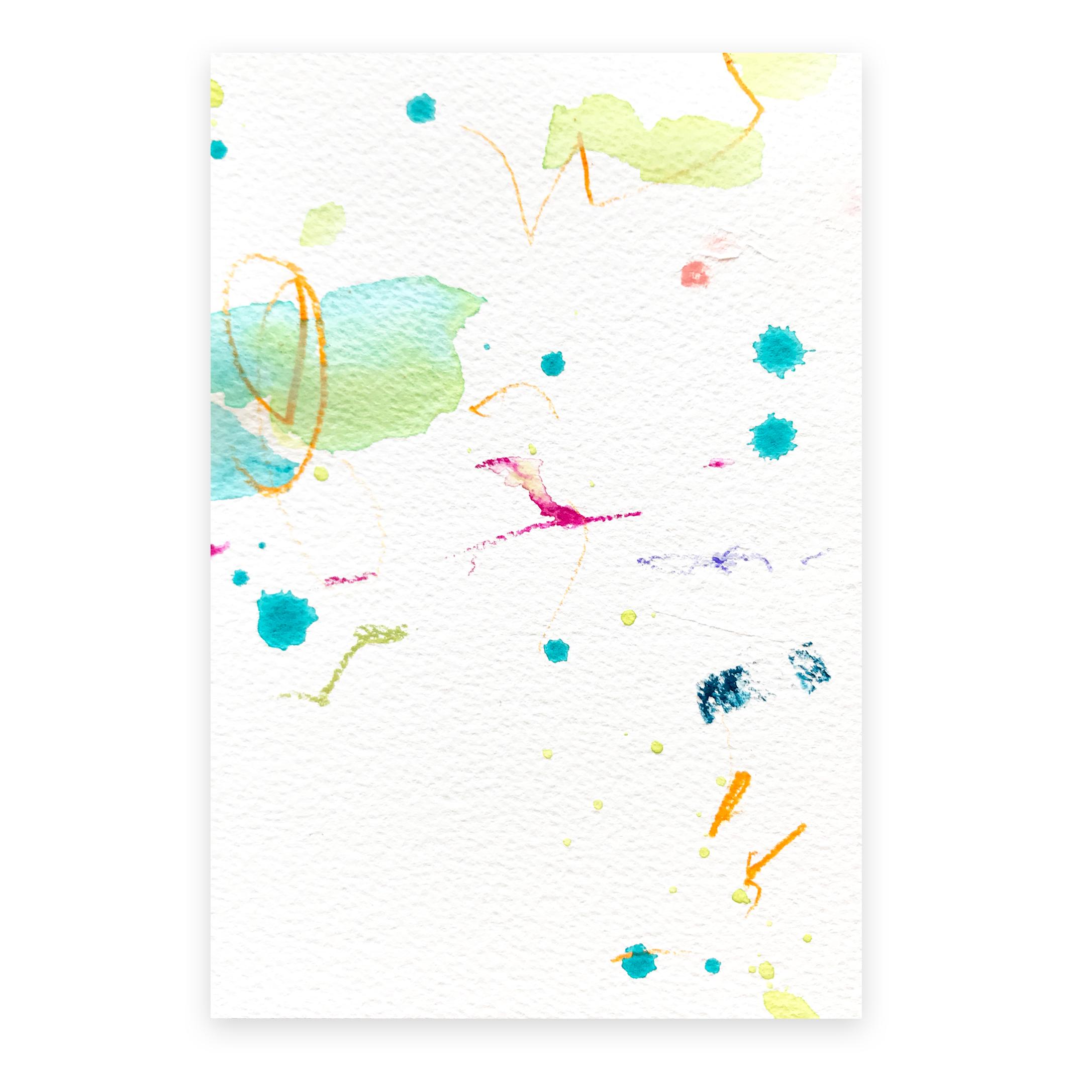 dd_oct22182  Mixed media on paper 14.8×10cm