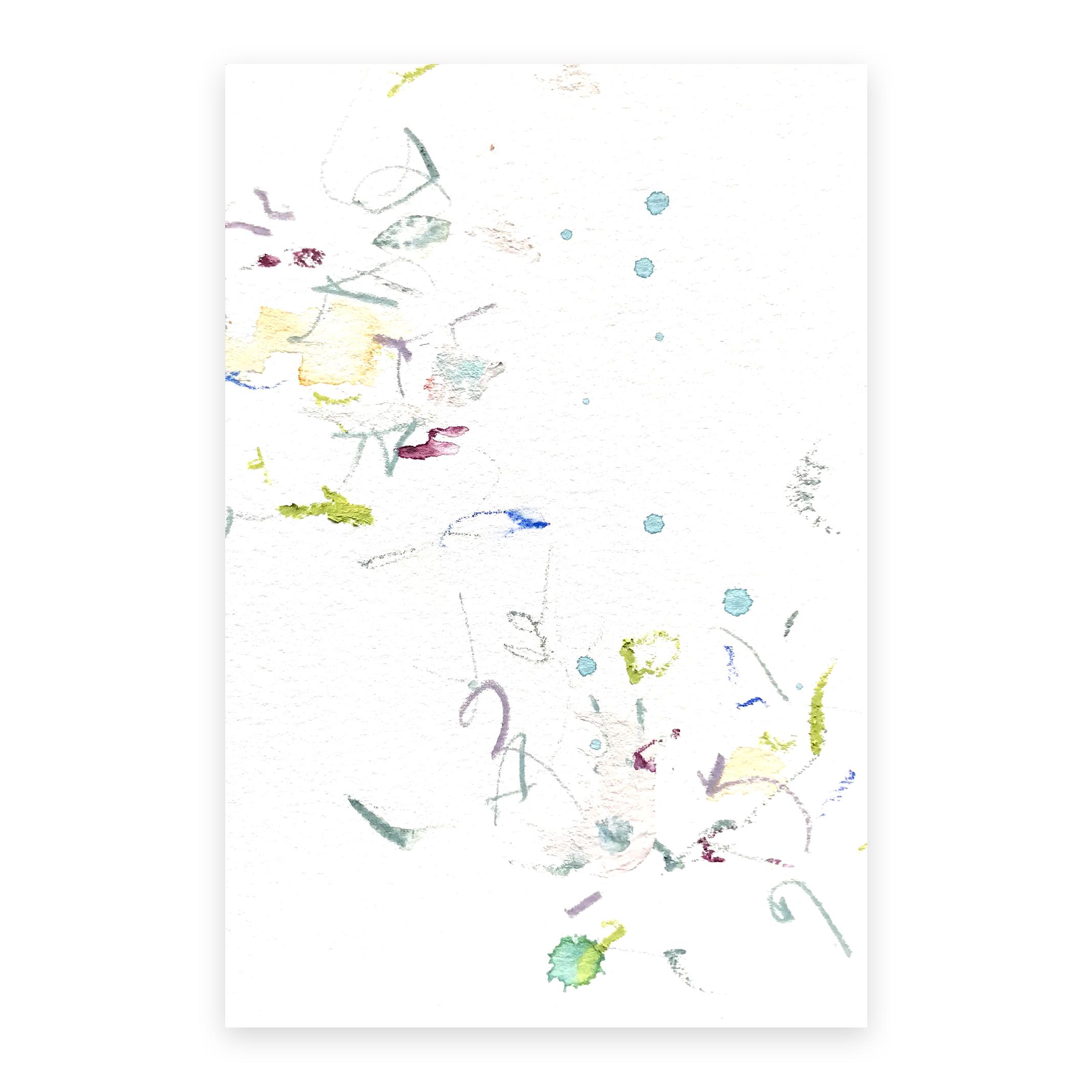 dd_nov07181  Mixed media on paper 14.8×10cm