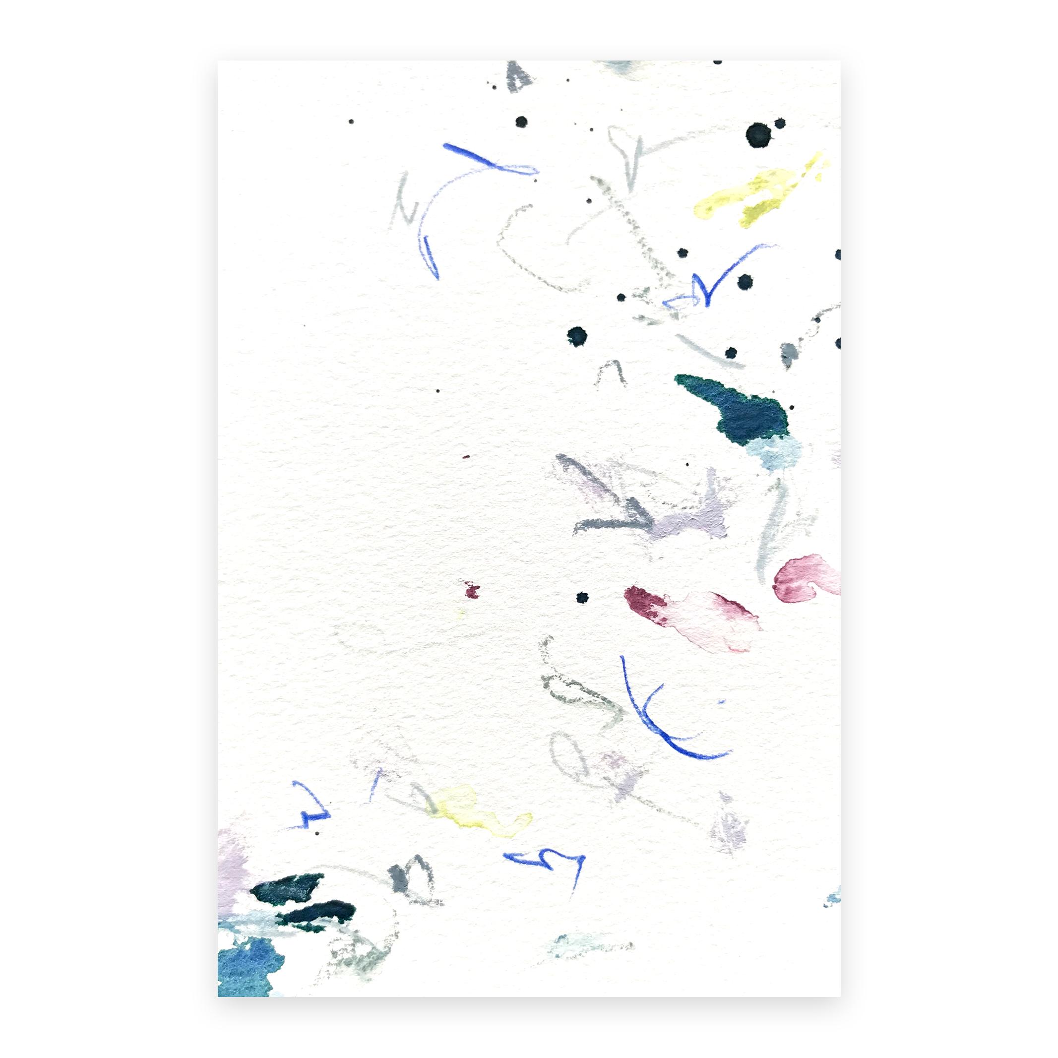 dd_nov12181  Mixed media on paper 14.8×10cm