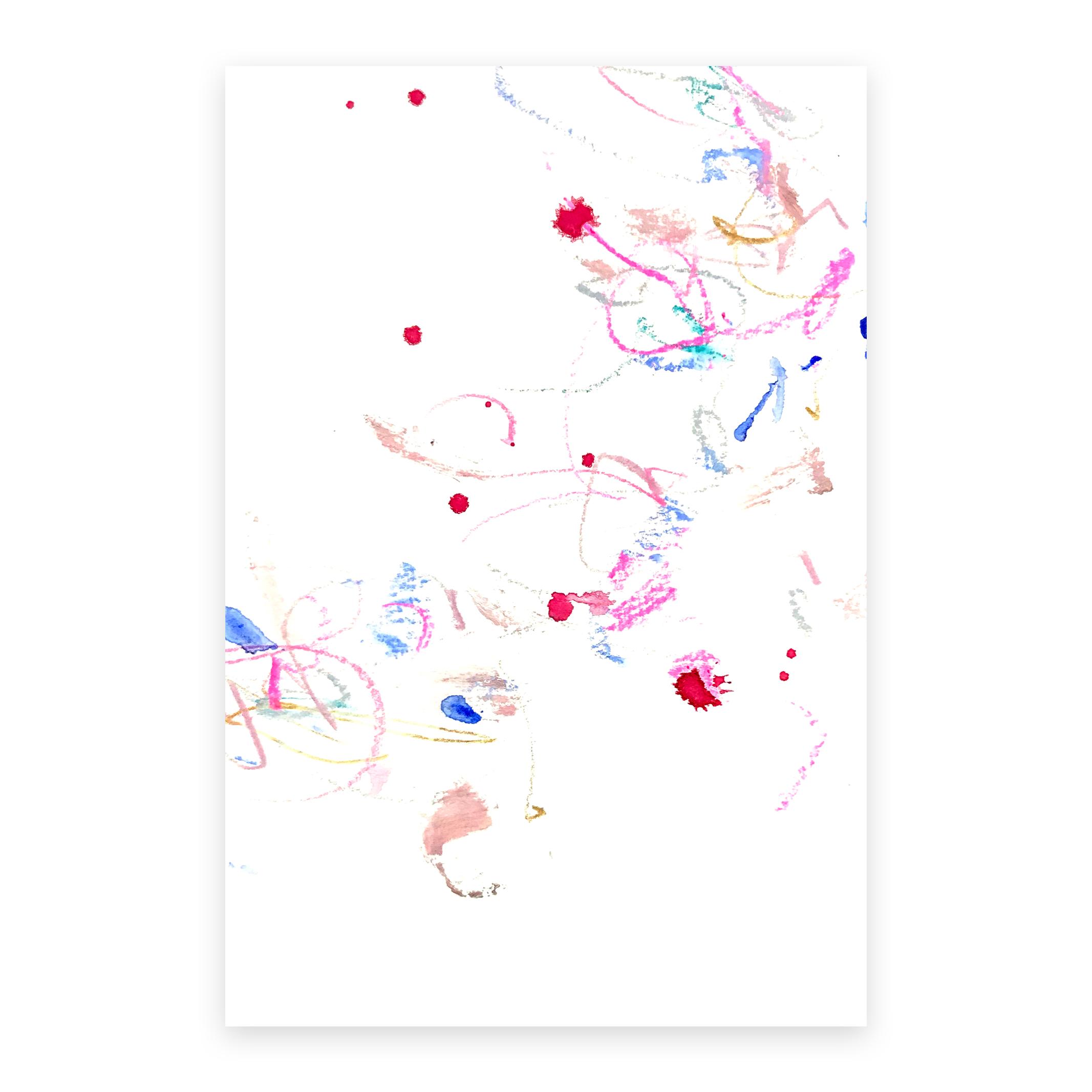 dd_dec08182  Mixed media on paper 14.8×10cm