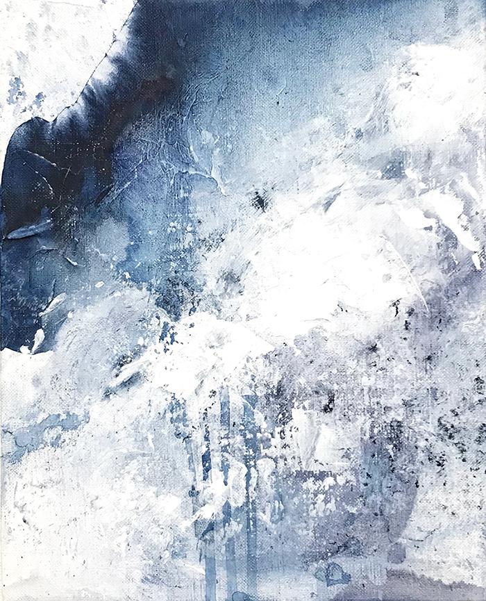 Untitled_nov23172  Mixed media on canvas.  27.3×22cm