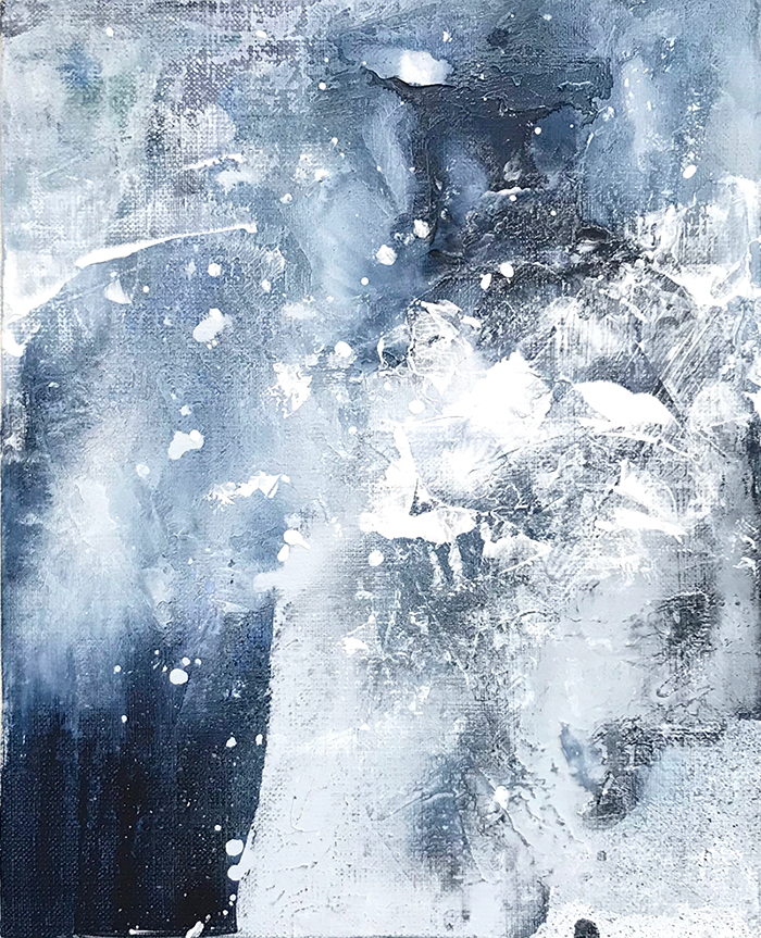 Untitled_nov23171  Mixed media on canvas.  27.3×22cm