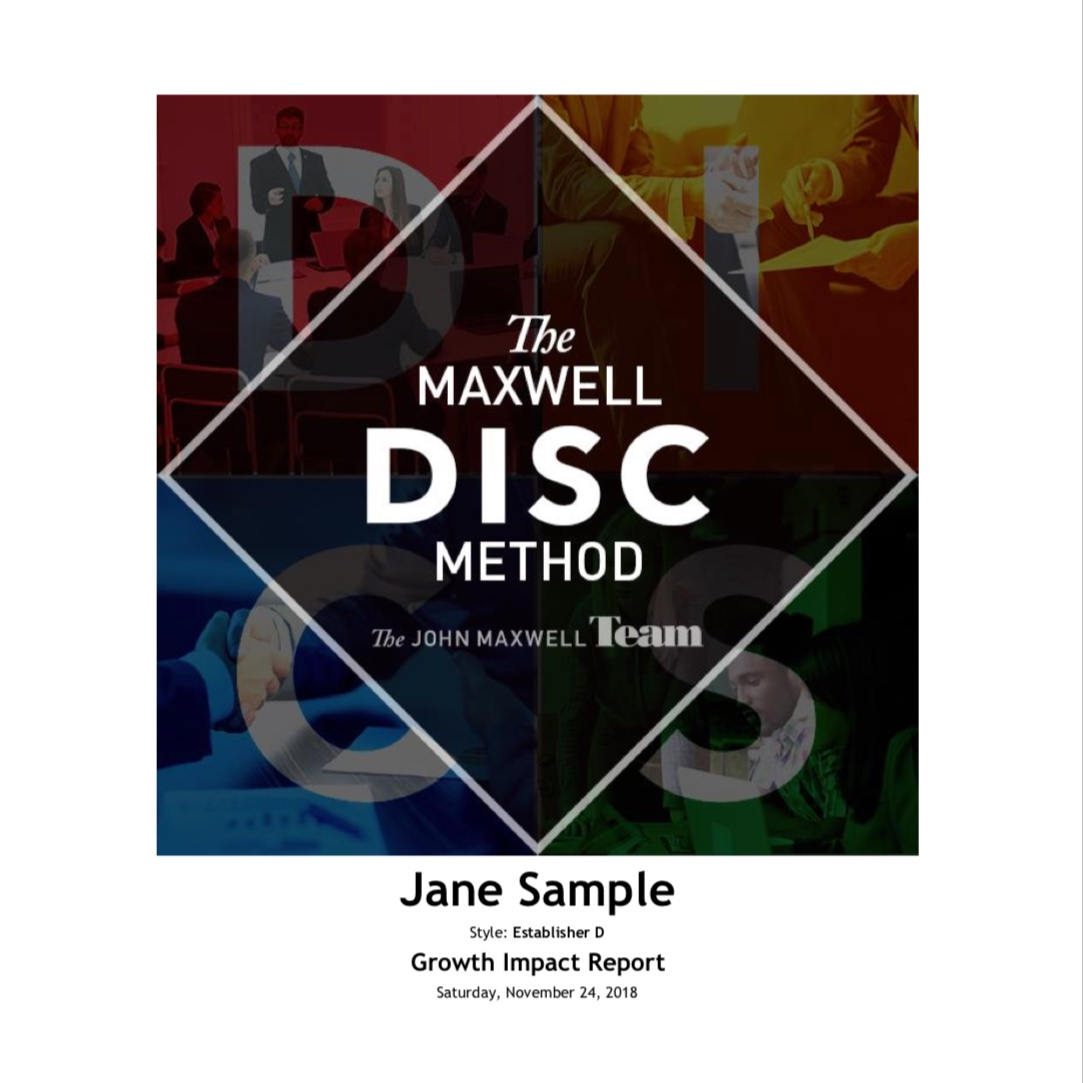 In the Maxwell Method Growth Impact Report, you will be introduced to the five key role themes, and on the Teams Style section, you will see your role preference and how you can have an even greater impact on the work you do.