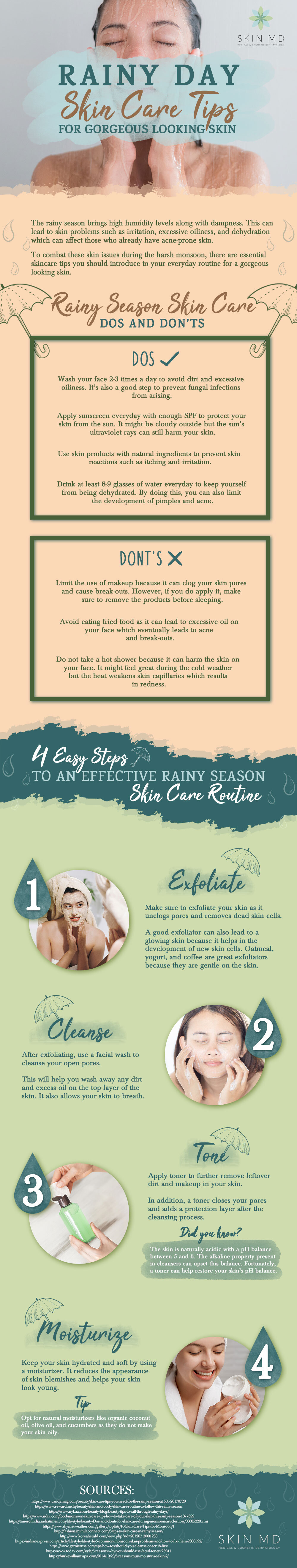 Essential Rainy Season Skin Care Tips to Beat the Harsh Weather Infographic