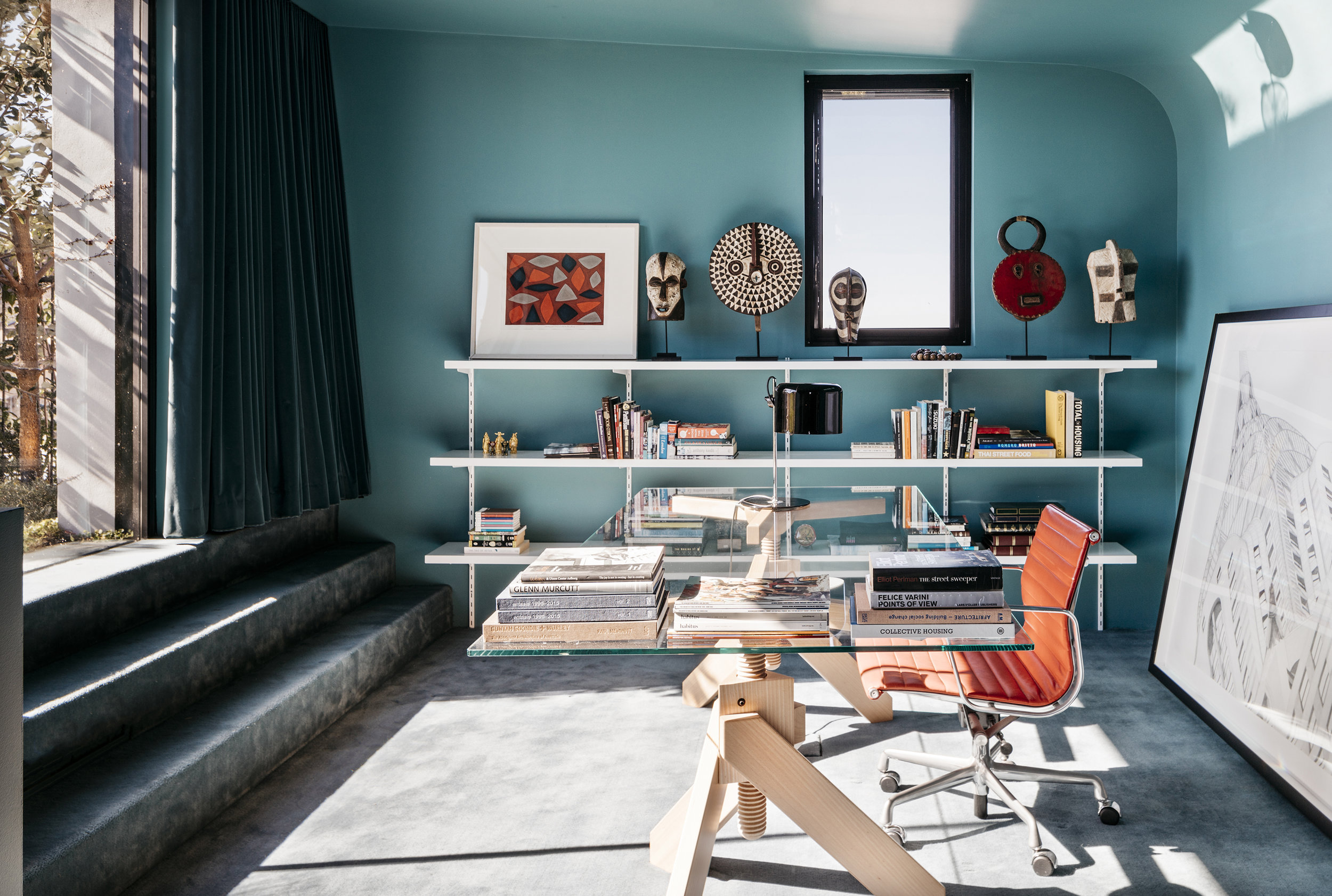 Dulux Colour Awards 2019 - Residential Interior. Cleveland Rooftop by SJB. Photo - Felix Forest.