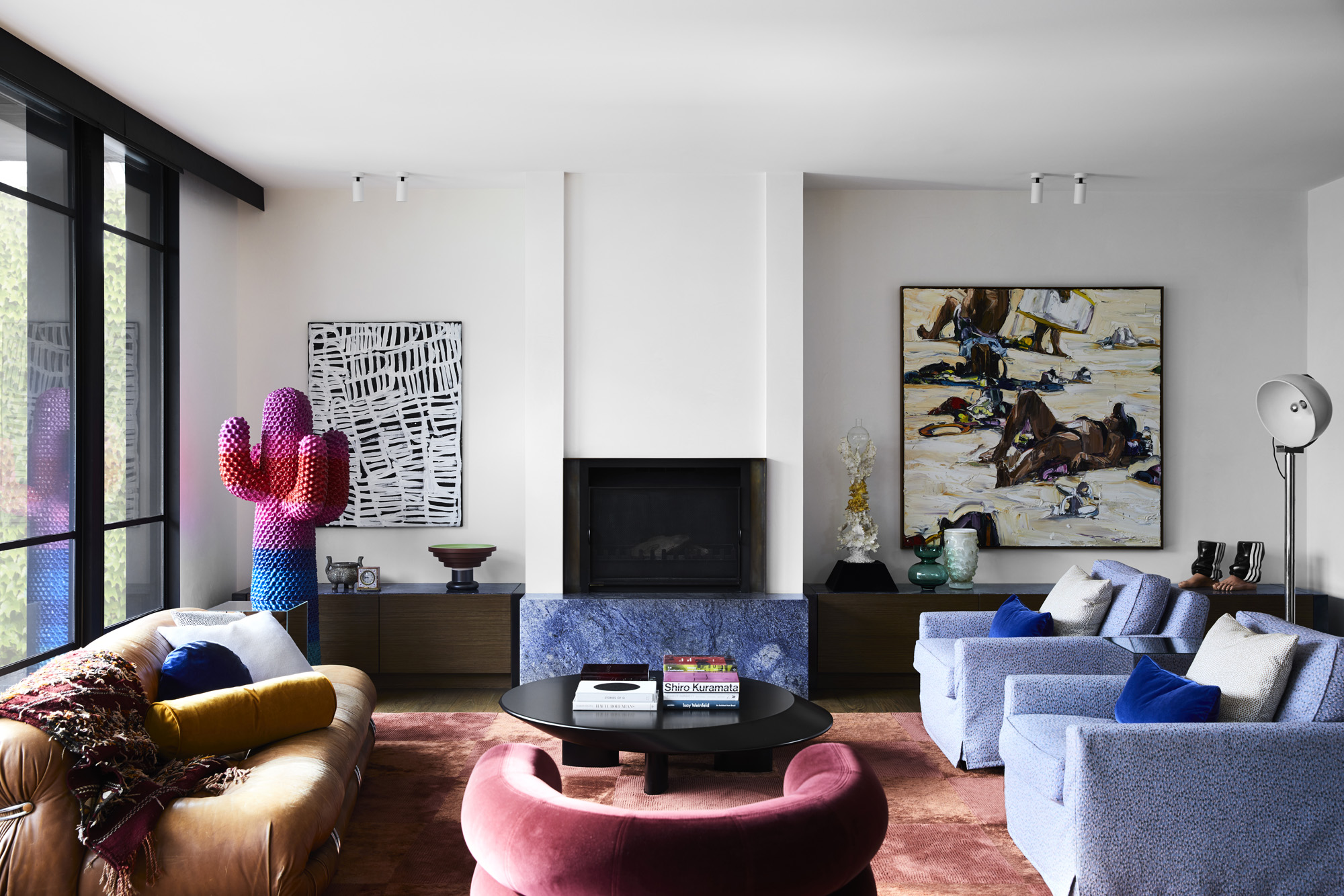 Dulux Colour Awards 2019 - Residential Interior. Prahran Residence by Flack Studio (and below). Photo - Sharyn Cairns.