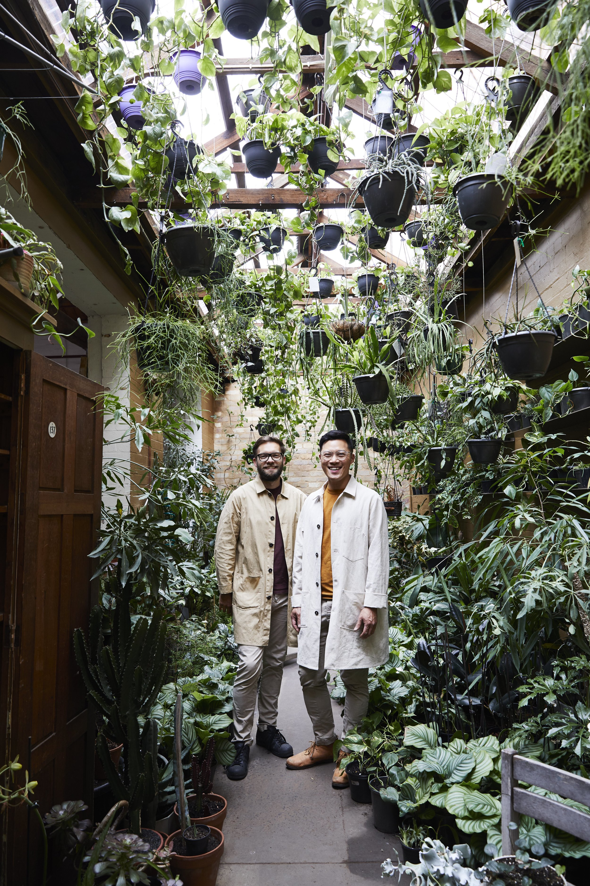 Jason Change and his partner Nathan Smith in the  The Plant Society  Flagship store in Collingwood. Photo -  Armelle Habib .