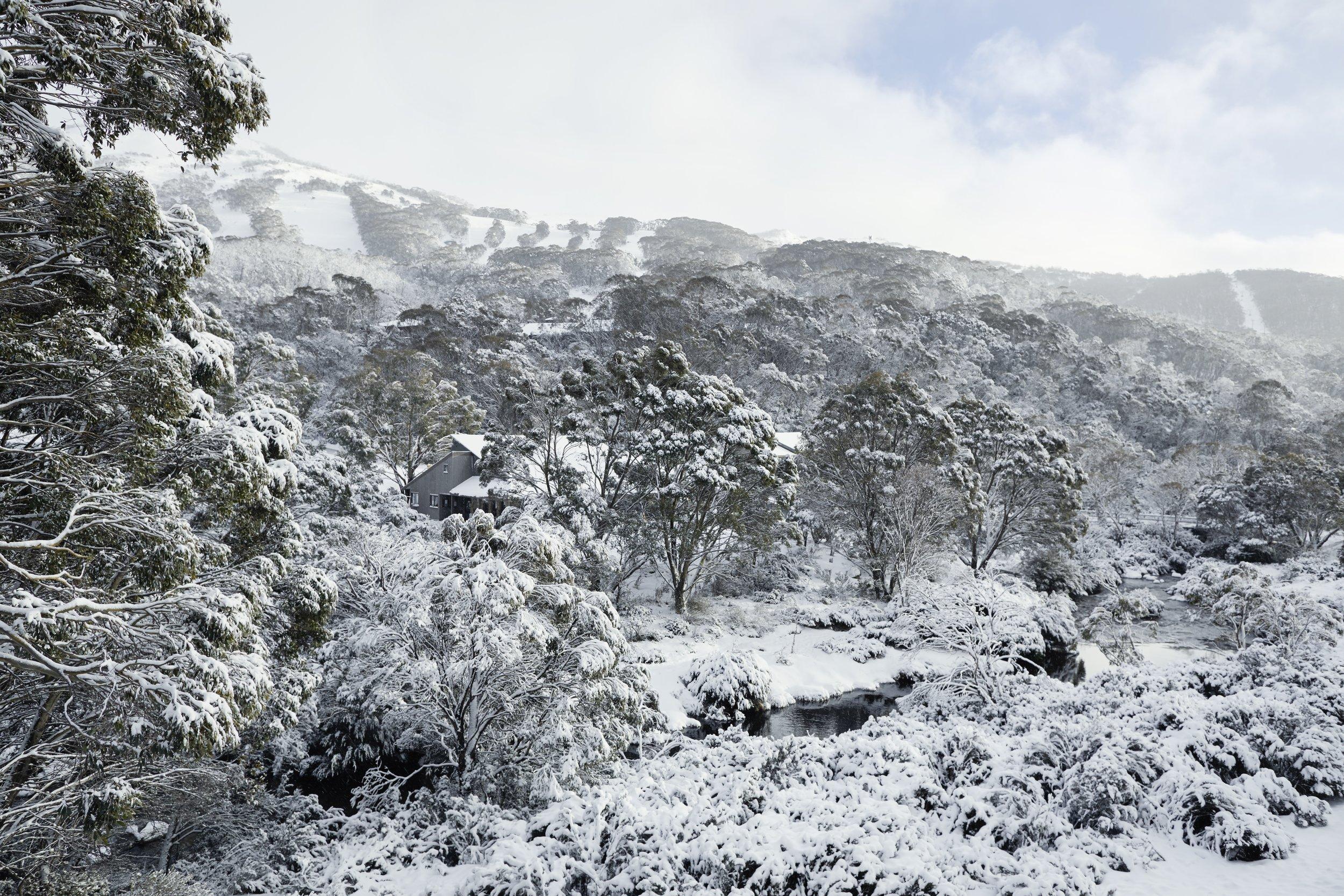 The magical view of Mount Kosciuszko from  The Eastern  at Thredbo Village. Photo - Monique Easton.