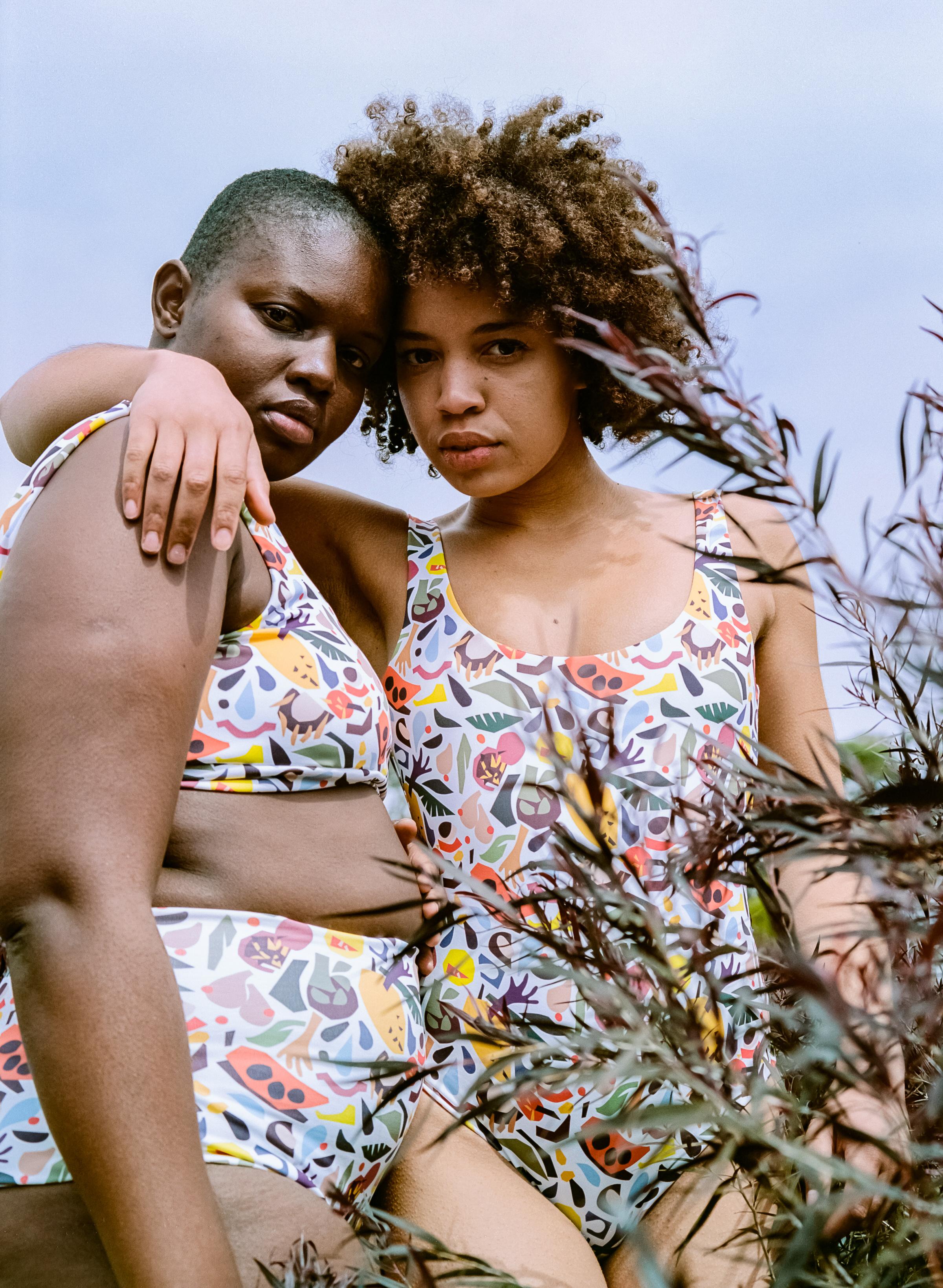 Nadia Hernández + Camp Cove Swim print collaboration.