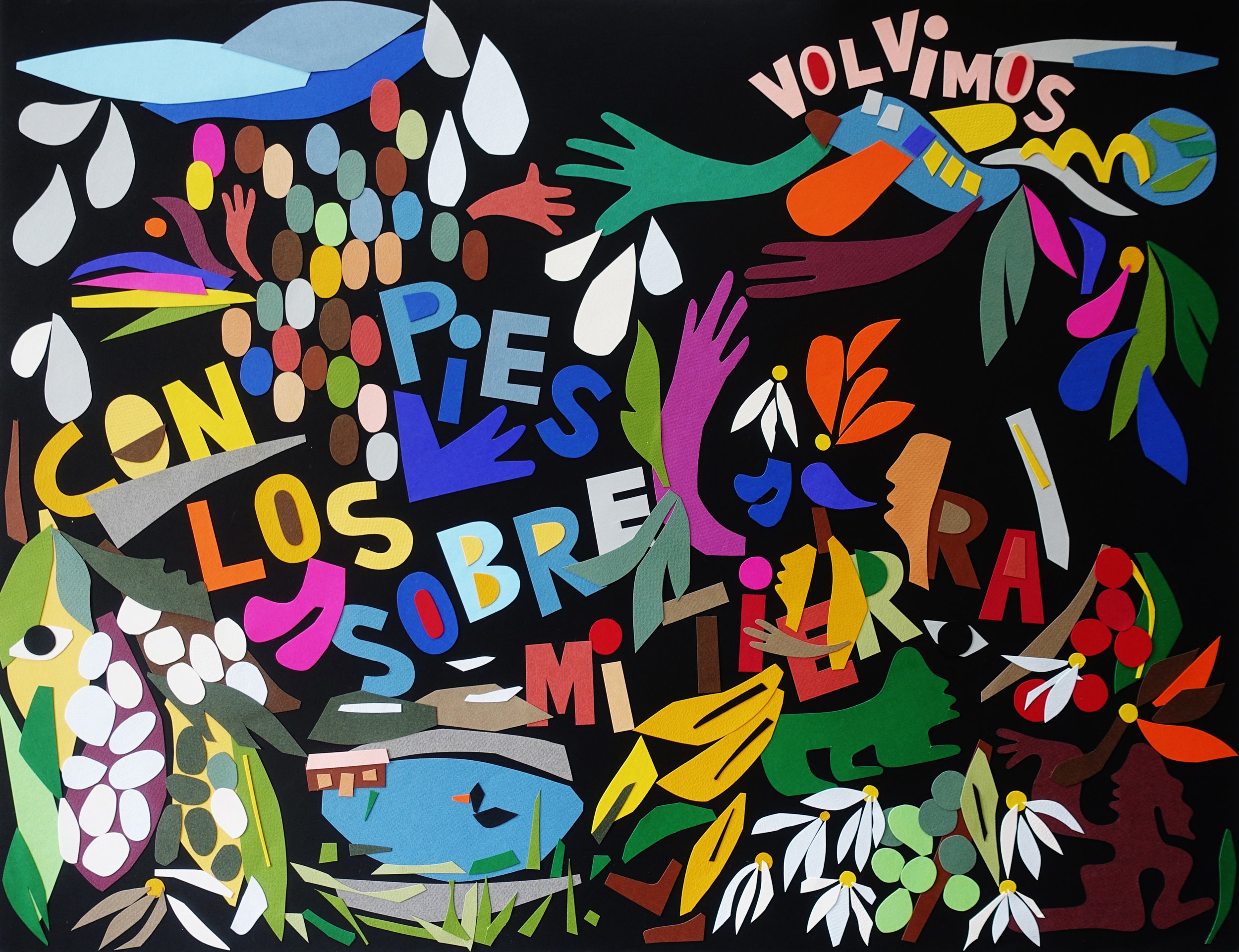 Con Los Pies Sobre Mi Tierra  by Nadia Hernández.
