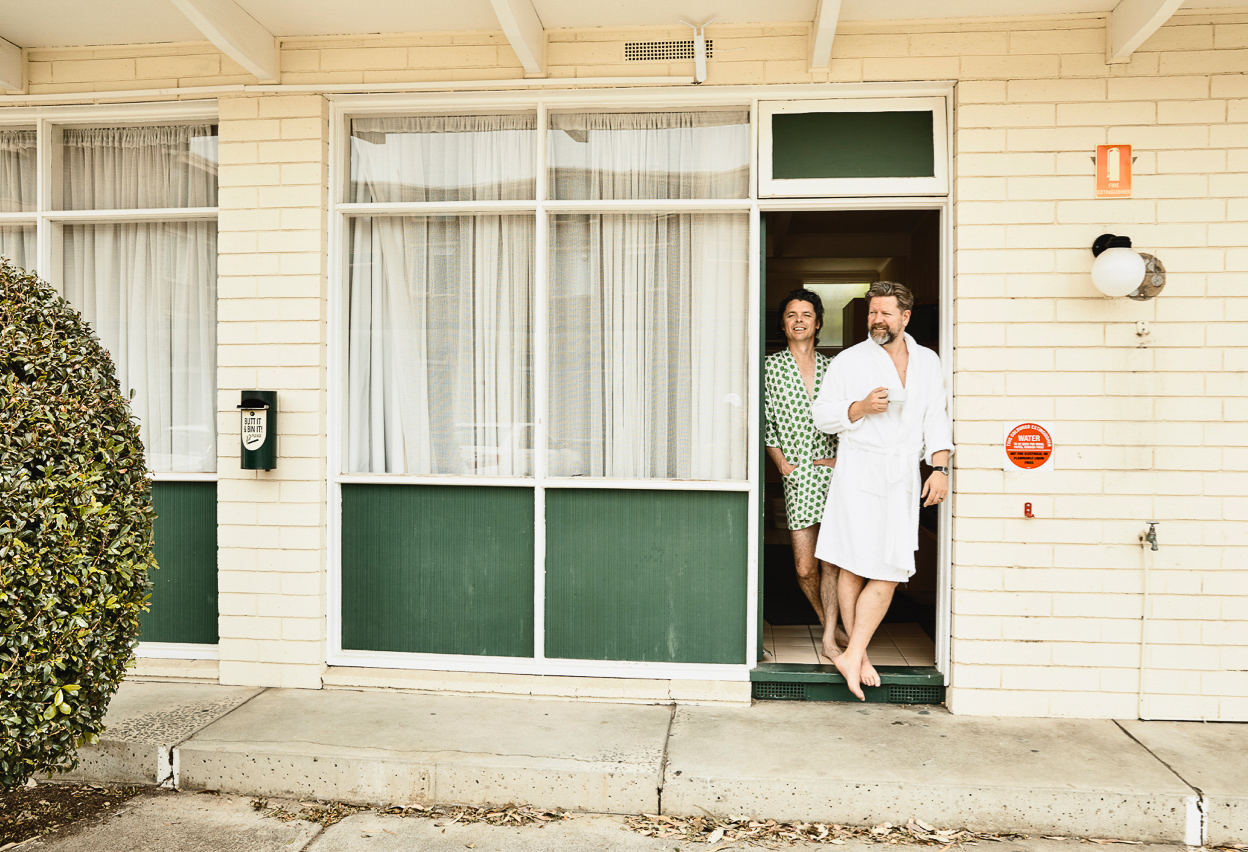 Tim Ross and Kit Warhurst explore the nostalgic, thought provoking and funny side of Australian holidays of the past in their live shot  Motel .