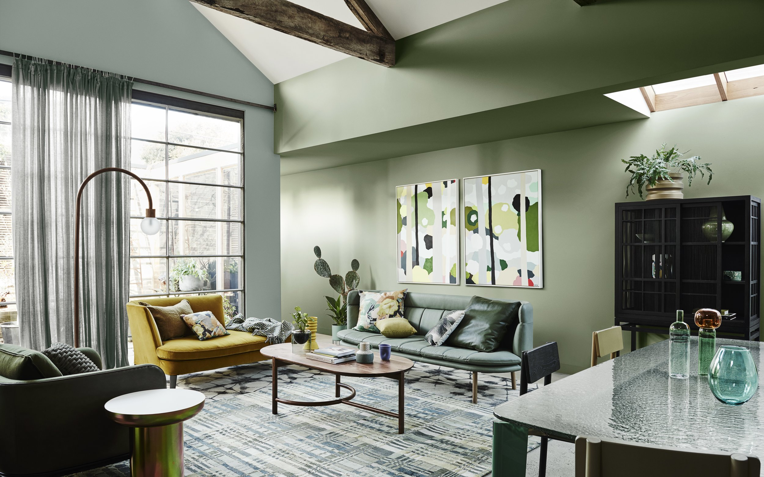 Dulux Colour Forecast 2020 – Cultivate palette. Wall in Dulux Pencarrow and Te Aroha.