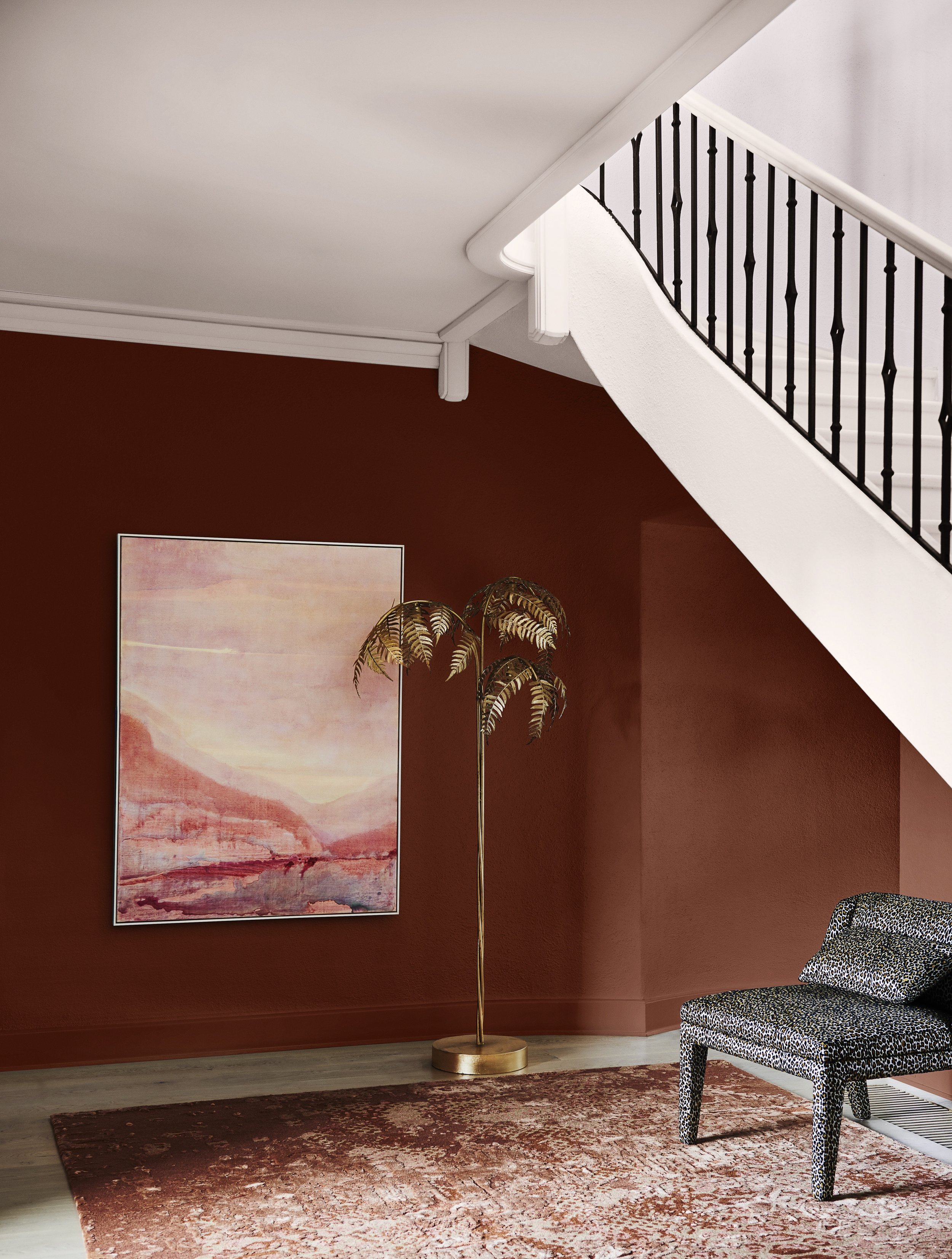 Dulux Colour Forecast 2020 – Indulge palette. Wall in Dulux Russet Tan.