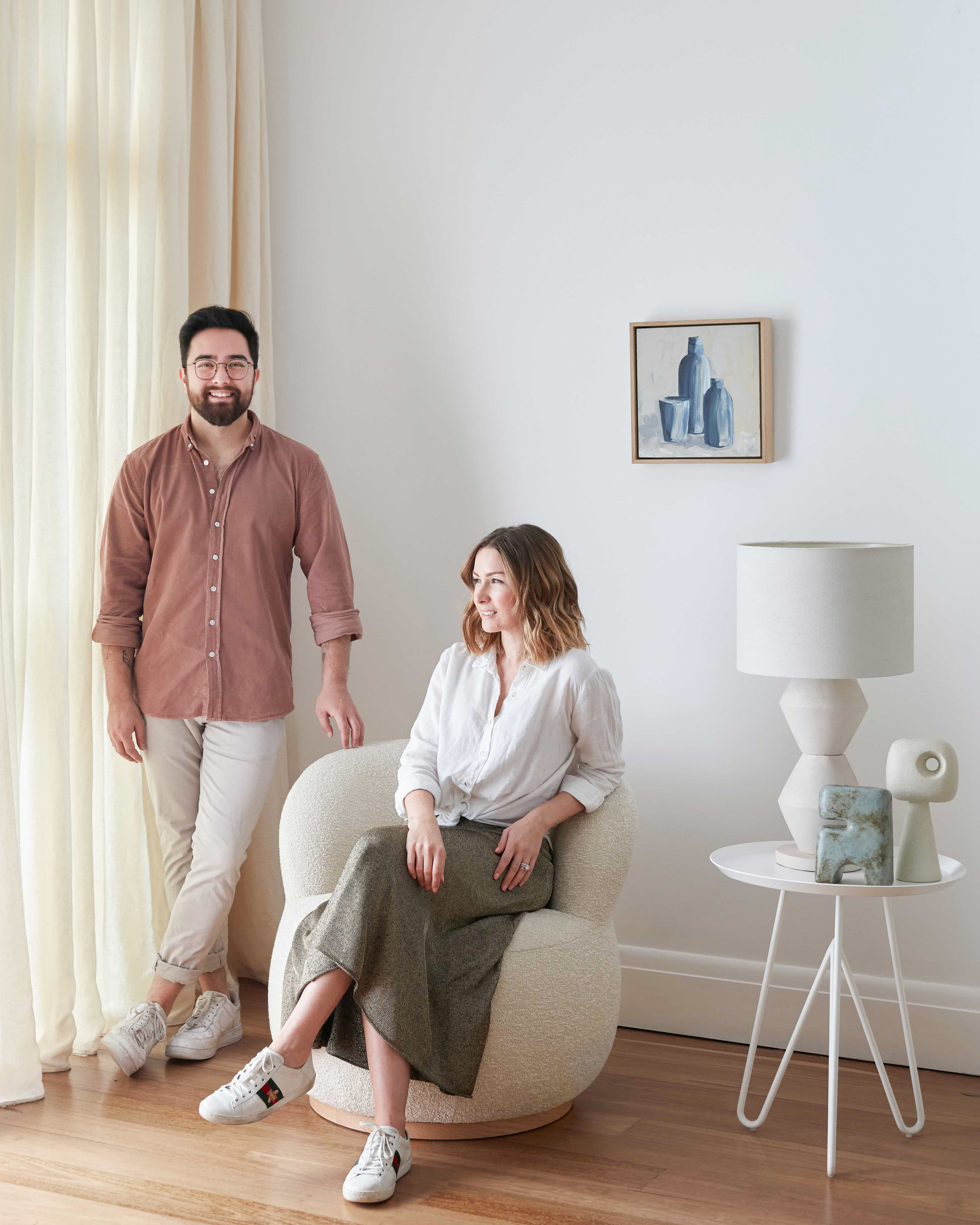 As editorial stylists, Jono Fleming and Kerrie-Ann Jones get to go behind the scenes for many leading furniture and homeware brands. Photo -  Jacqui Turk .