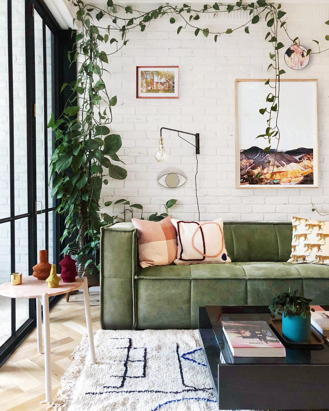 A vibrant corner in Jono Fleming's home, which is all kinds of wonderful. Photo -  Jono Fleming .