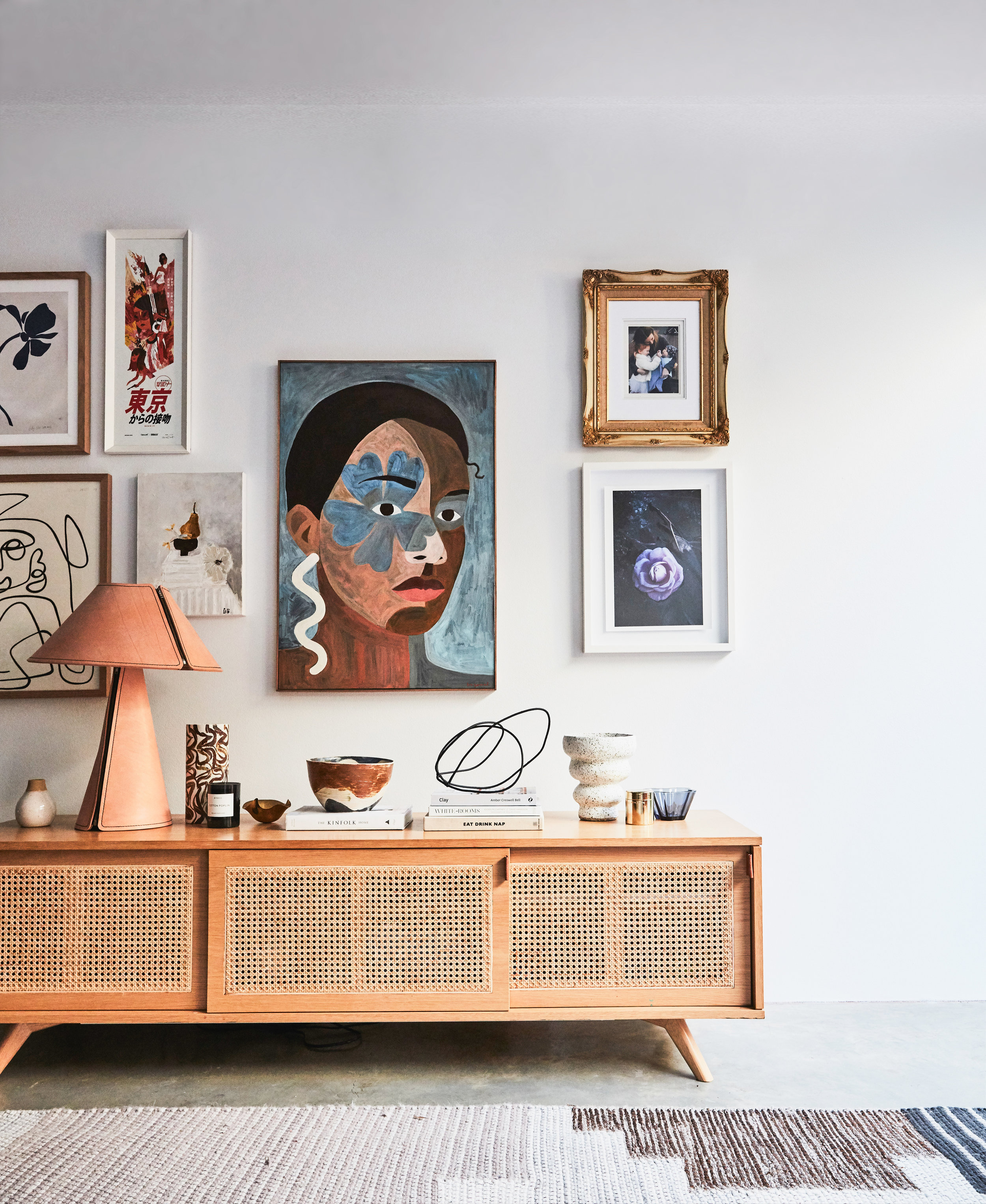The carefully edited interior of a stylist - a little glimpse into Kerrie-Ann Jones' home. Photo -  Maree Homer.