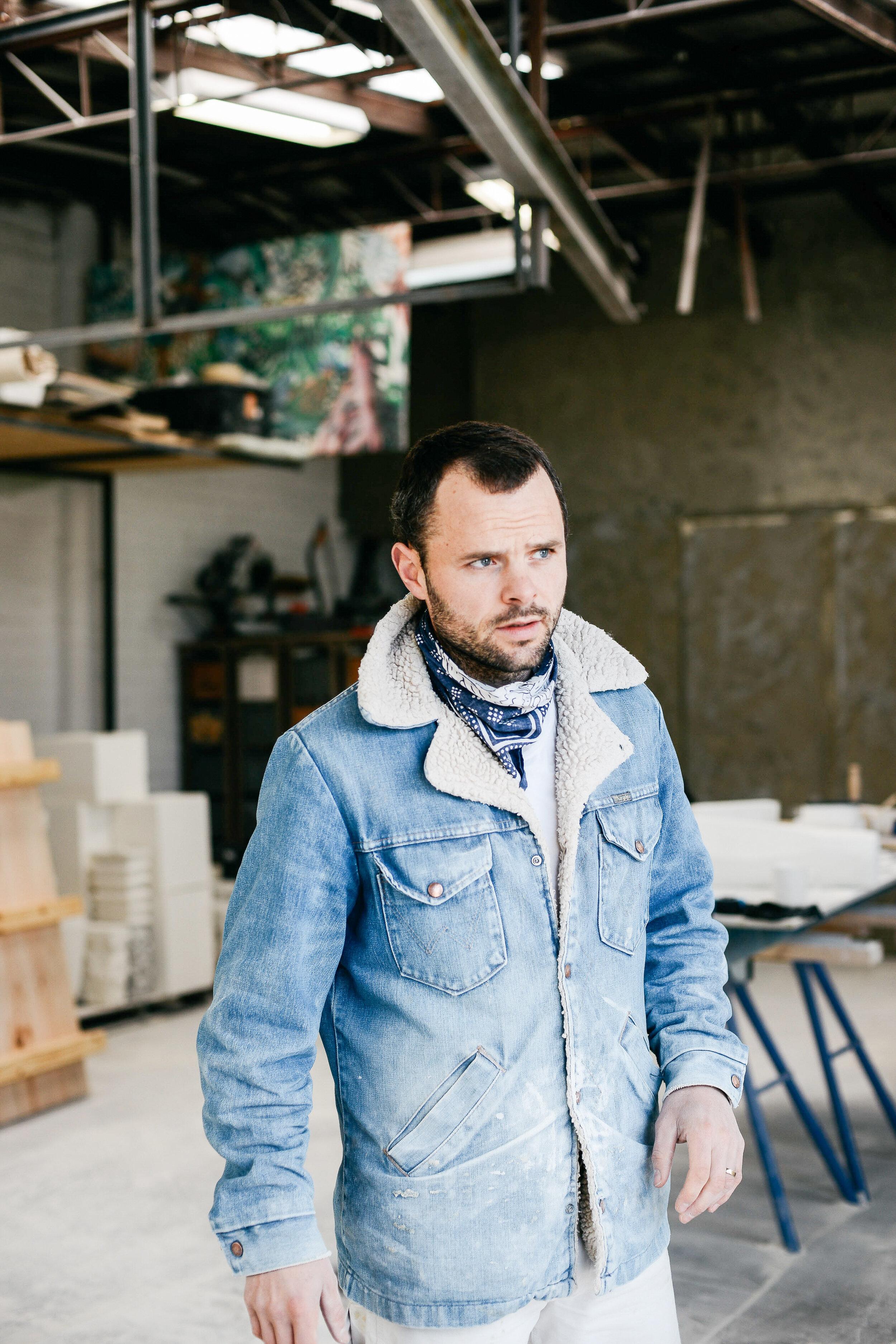 Steven John Clark in his Melbourne studio. Photo -  Bobby Clark .