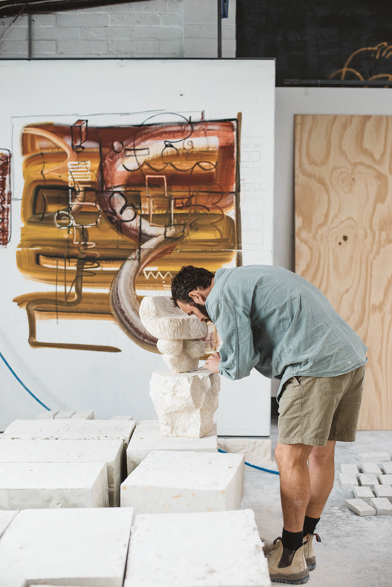 """""""I like using stuff that I've come across in my trade and to try to put a twist on it - to figure out how it can be used as a piece of furniture,"""" shares Steven. Photo -  Bobby Clark ."""
