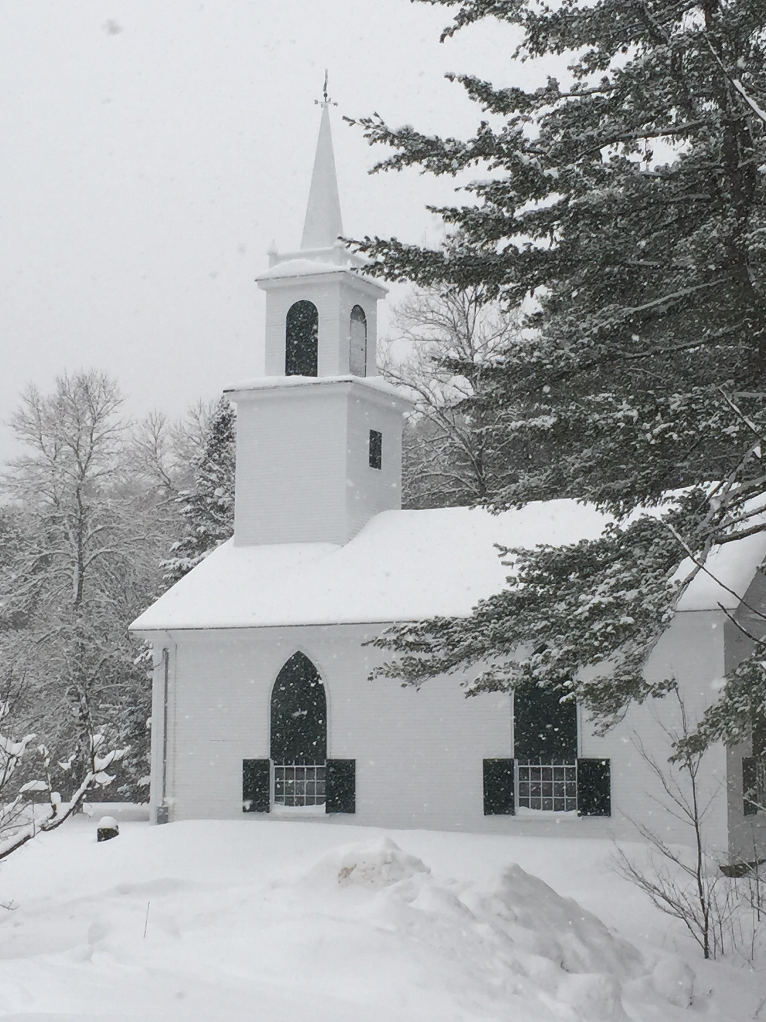 Head Tide Church in Winter