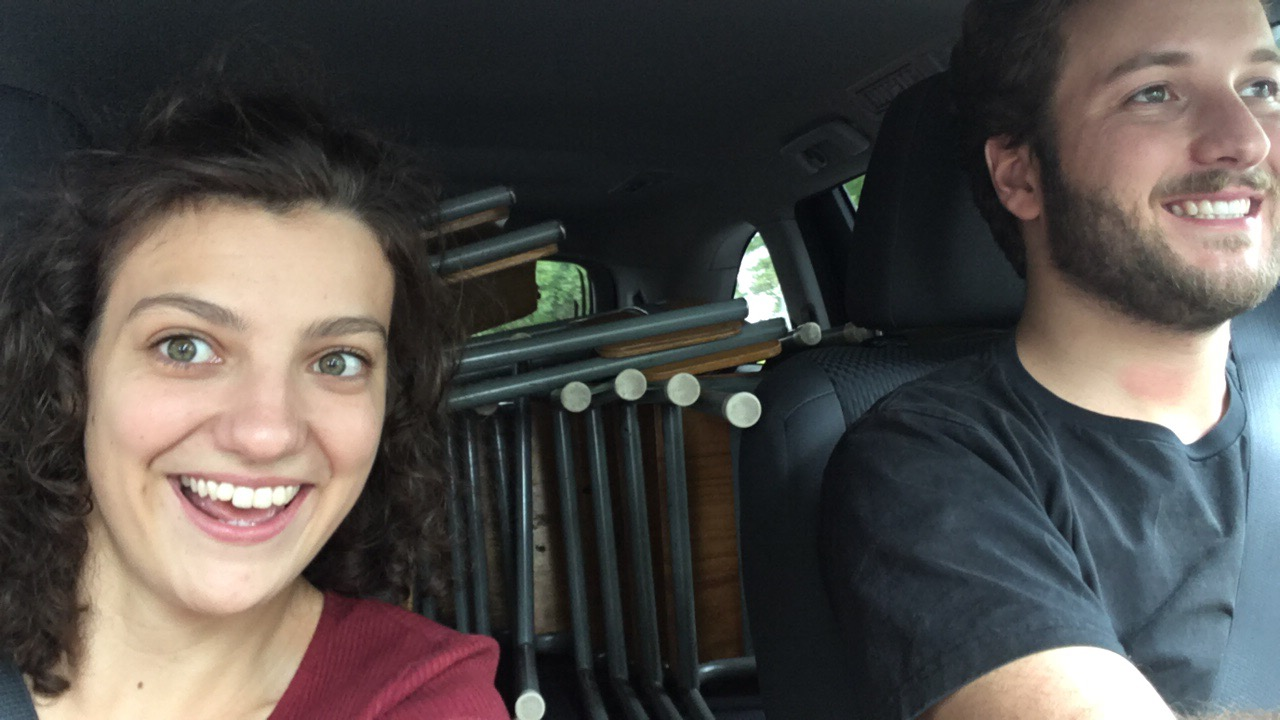 Sally and Thomas en route to The Adelaide Fringe Festival!