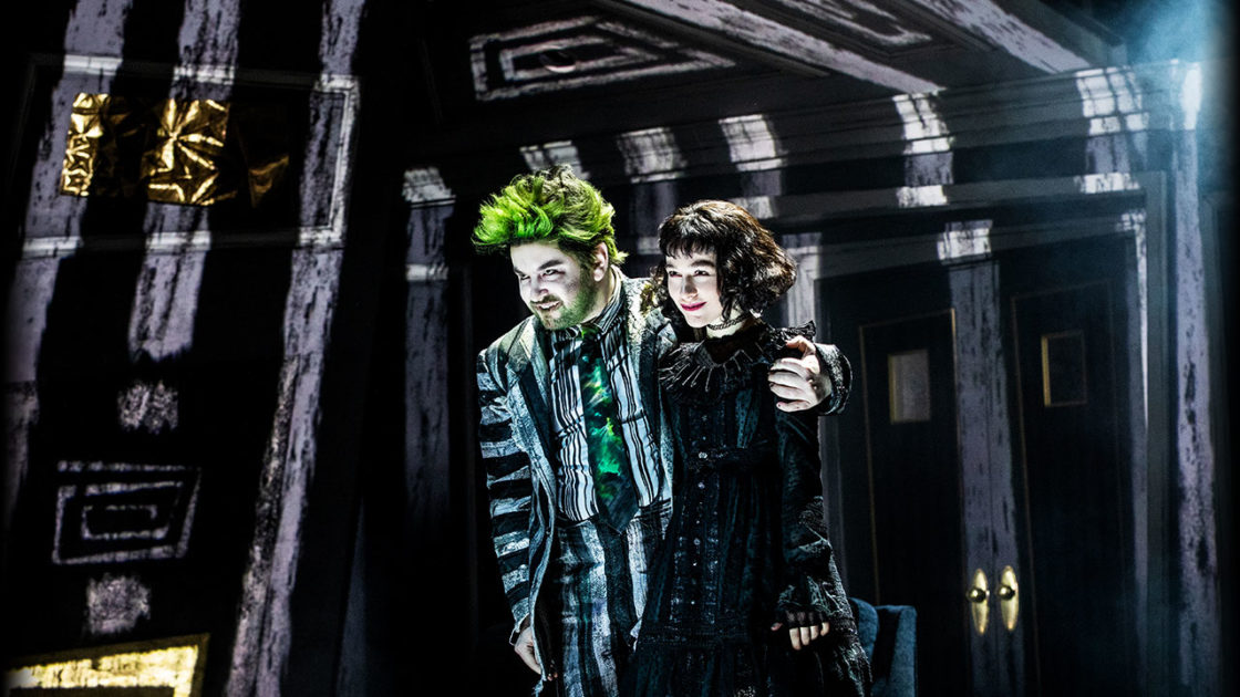 Alex Brightman and Sophia Anne Caruso Beetlejuice. Photo © Matthew Murphy