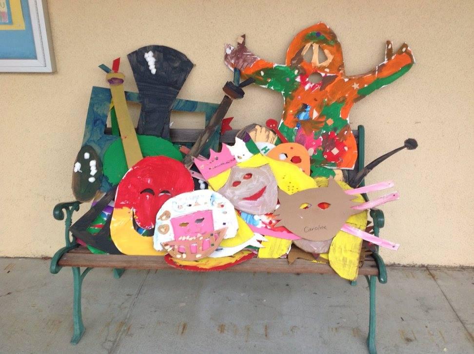 After the kindergarten Mask Parade....