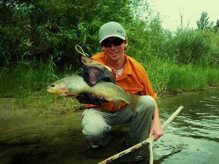 John Hanlon with a beautiful Methow River Cutthroat!