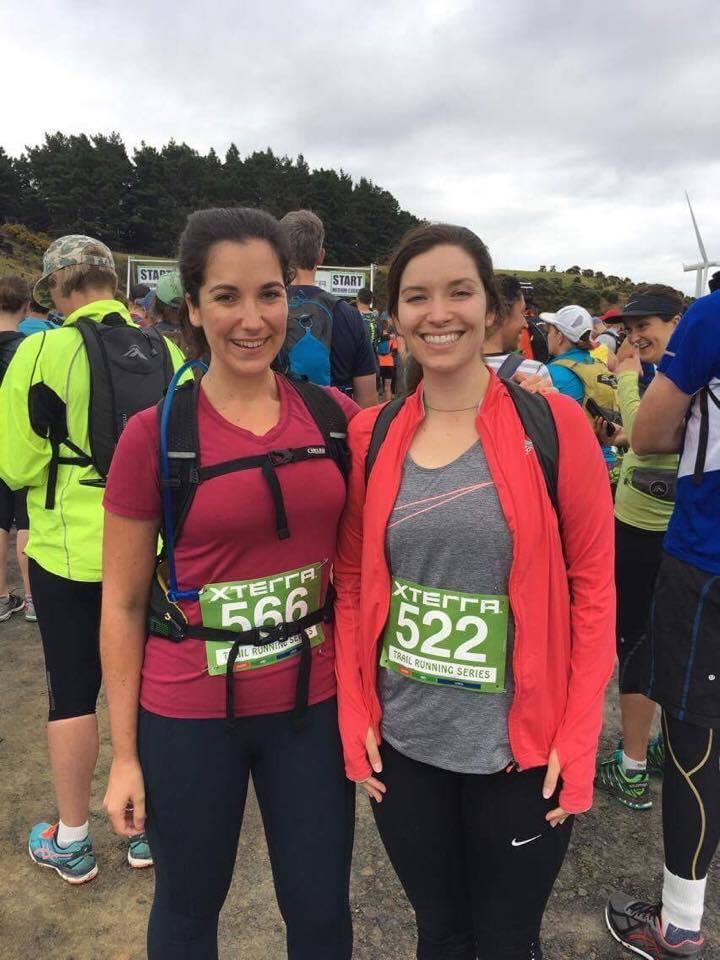 Pre-race: nervous smiles
