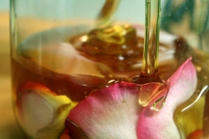 Rose or Lavender honey is a wonderful addition to a herbal tea.