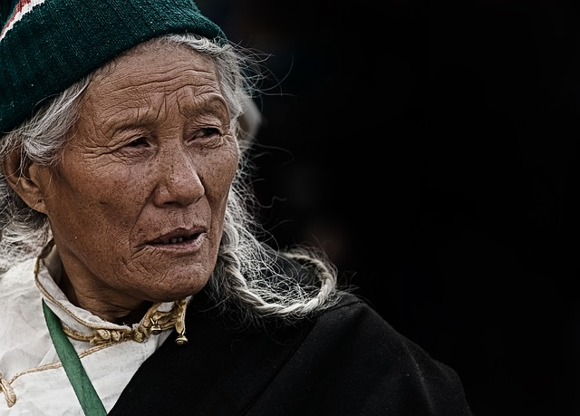 Tibetan elderly woman- Adaptogens have widespread traditional as well as modern use for surviving difficult environments, and to promote healthy ageing.