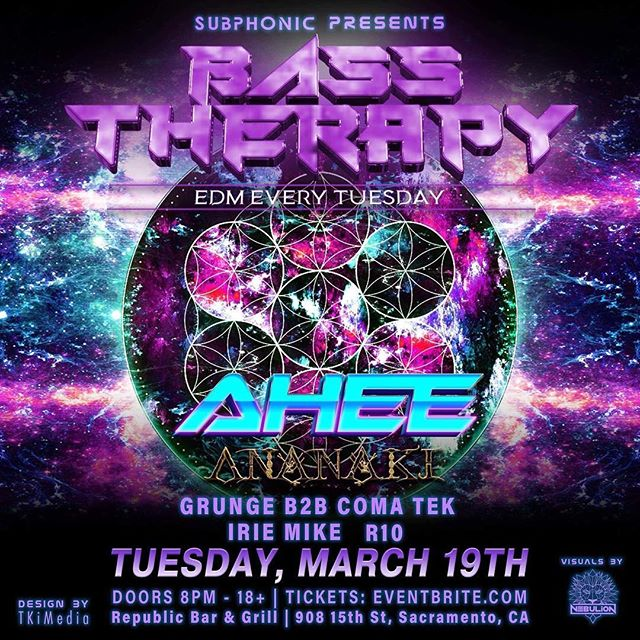 This Tuesday in #sacramento I'll be throwing down some bass. 👽🎉🤟🎶 . . . #sacramentonightlife #sacramentoevents #sacramentomusic #trapmusic #dubstep #housemusic #bassmusic #weirdbass #ahee
