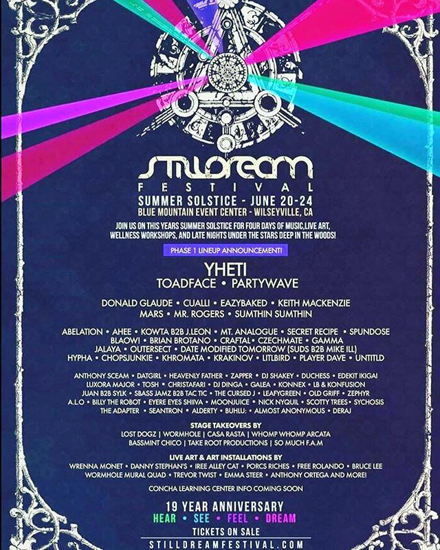🚨Happy Alien Alert🚨  I'm playing @stilldreamfestival this year! 👽🤟🎉 . . . #tour #tourlife #musicfestival #californiamusic #transformationalfestival #rave #djlife #stilldream #stilldreamfestival #yheti #toadface #ahee #trapmusic #bassmusic #dubstep #dubstepmusic #festivallineup #lineups #trap #raversunite #undergroundmusic
