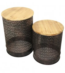 Set of two side moroccan tables hire sydney